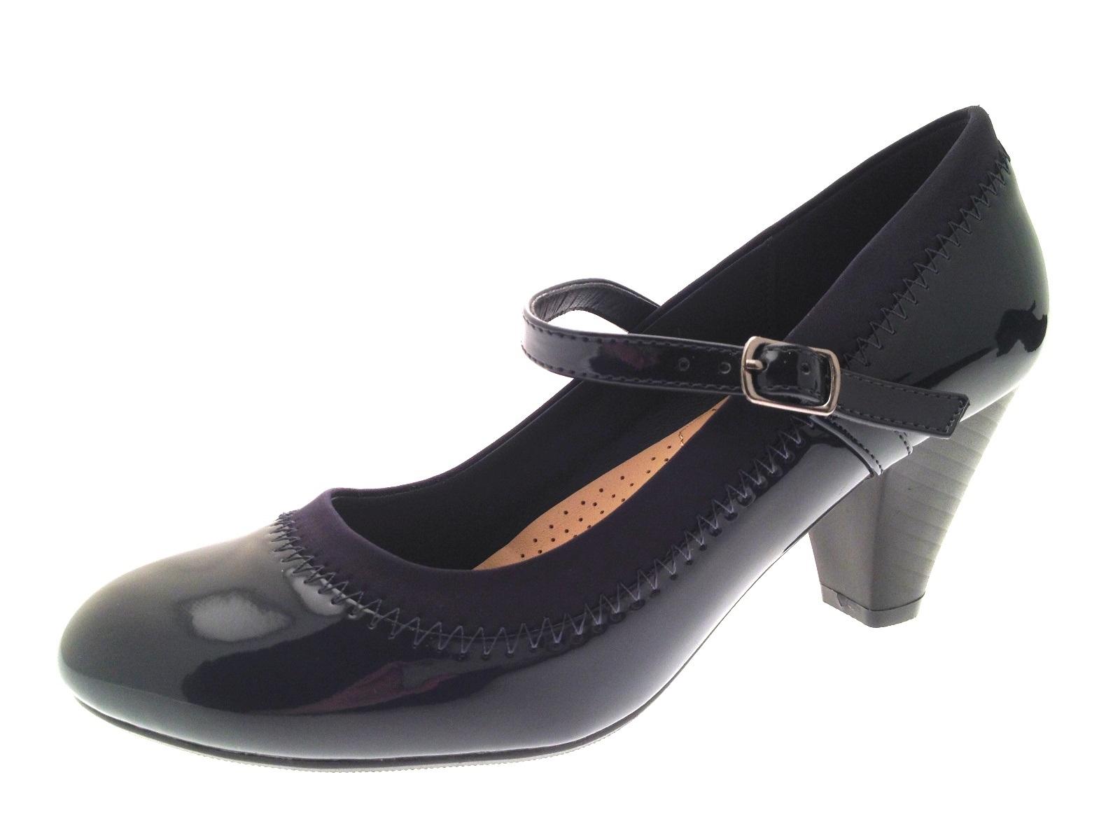 Women S   Wide Navy Dress Shoes