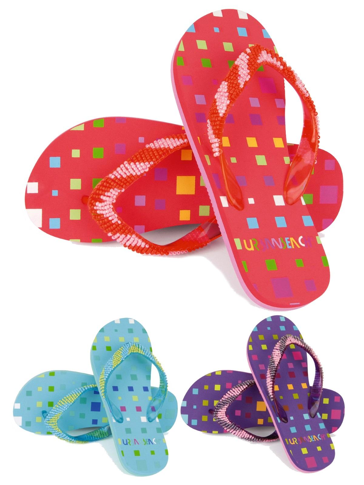 a447c7325 Details about Womens Girls Urban Beach Sandals Flip Flops Toe Posts Kids  Toe Post Summer Shoes