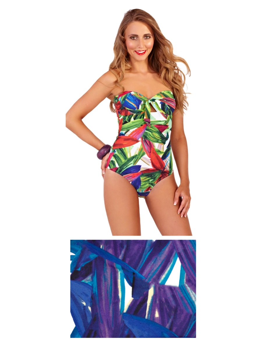 Womens Swimming Costume Halter Neck Strapless Bandeau Swimsuit