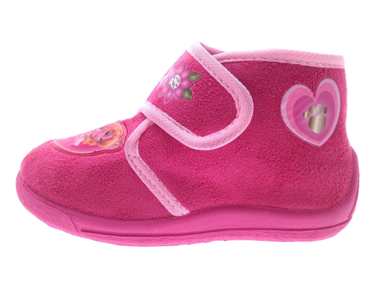 Kids Girls Disney Princess Palace Pets Pink Slippers Booties Shoes Size UK 4 - 9