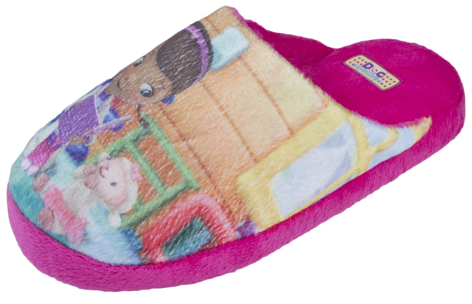 Kids Girls Disney Doc McStuffins Slippers Character Mules Shoes Size UK 8 -  13 eac77bf99b96