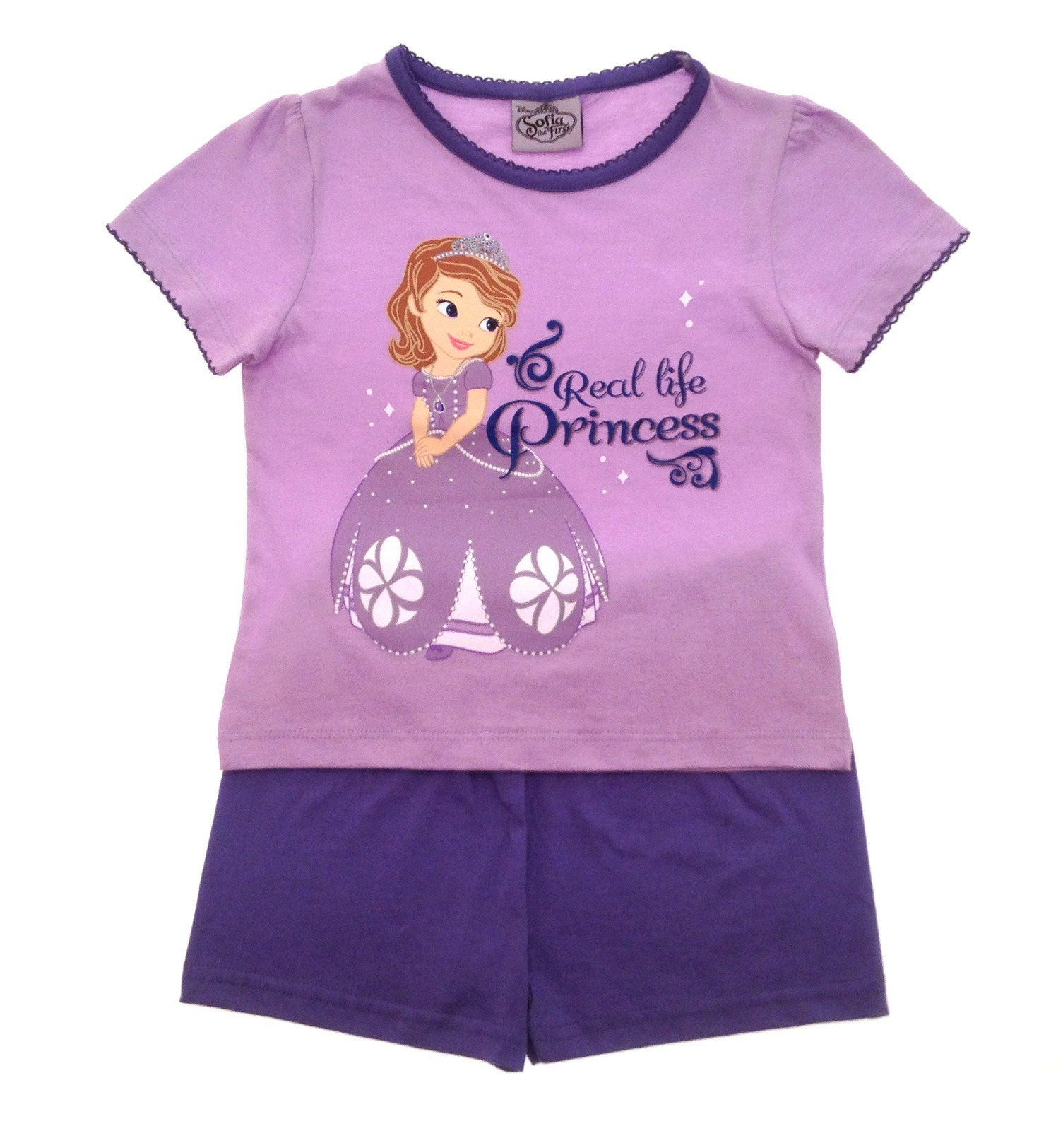 Girls Disney Princess Sophia the first short pyjamas summer pjs