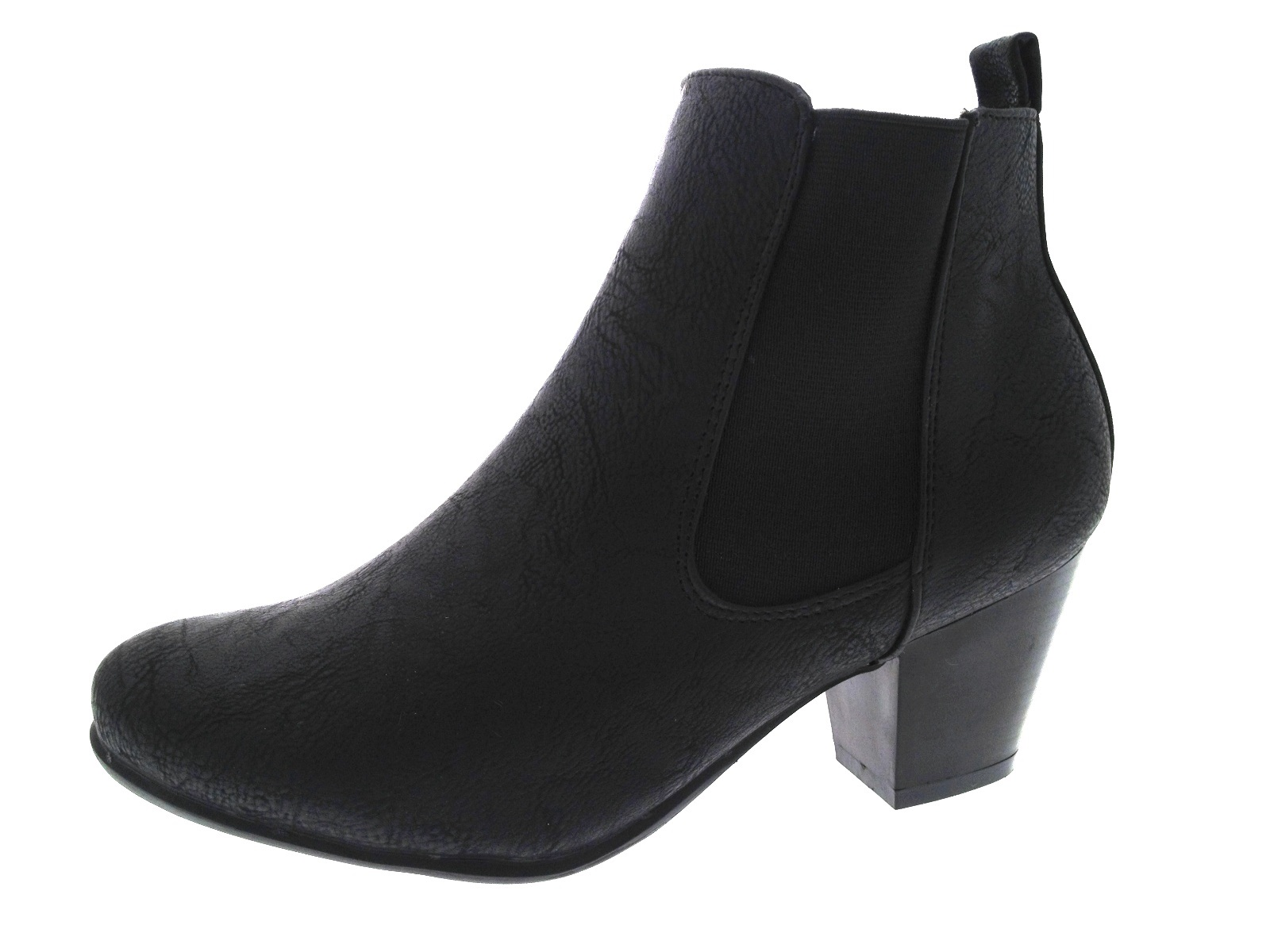 numerousinvariety newest style of store Details about Womens Chunky Block Heel Chelsea Ankle Boots Wide Fitting  Comfort Shoes Size
