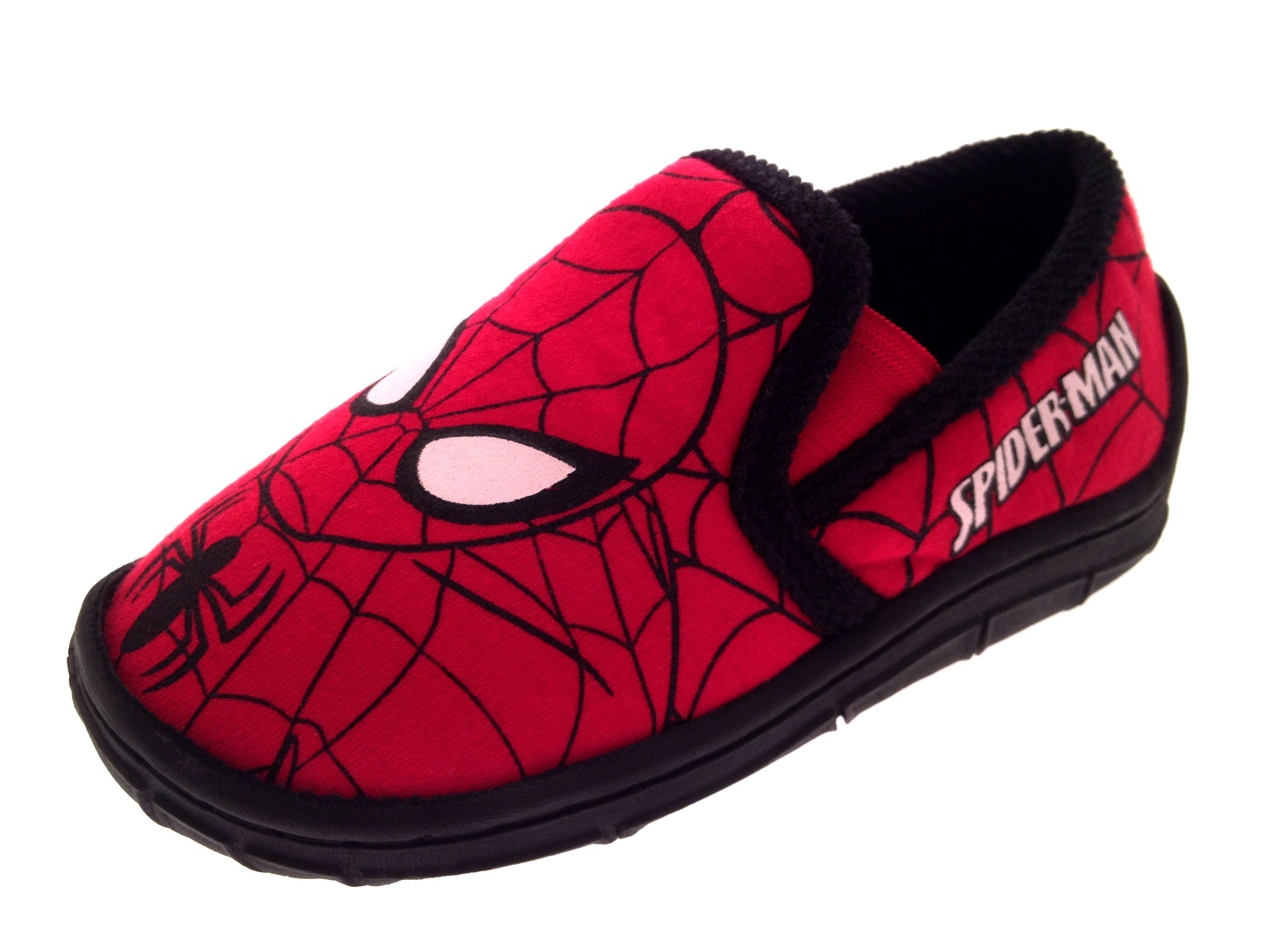 060709a064c1 Marvel Spiderman Slippers Boys Character Booties Adjustable Straps ...
