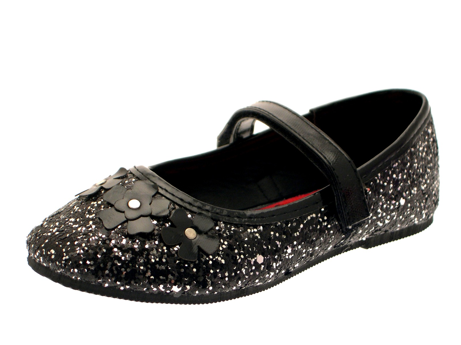 Black Studded Dolly Shoes