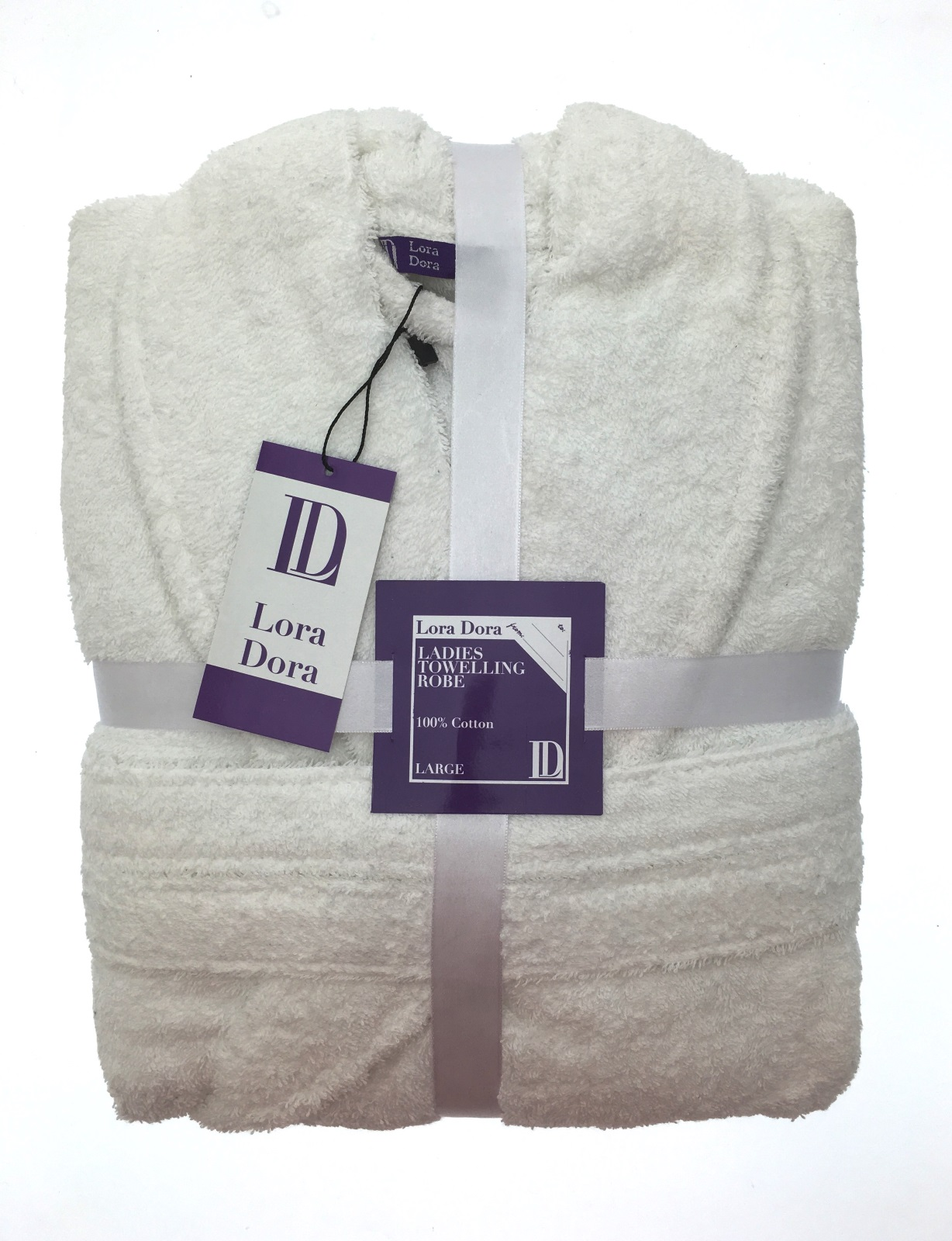 Womens Pure 100% Cotton Luxury Towelling Bath Robes Dressing Gowns ...