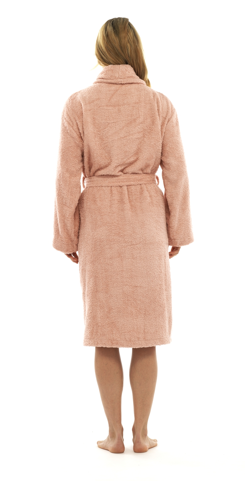5447ebfc09 Womens Pure 100% Cotton Luxury Towelling Bath Robes Dressing Gowns ...