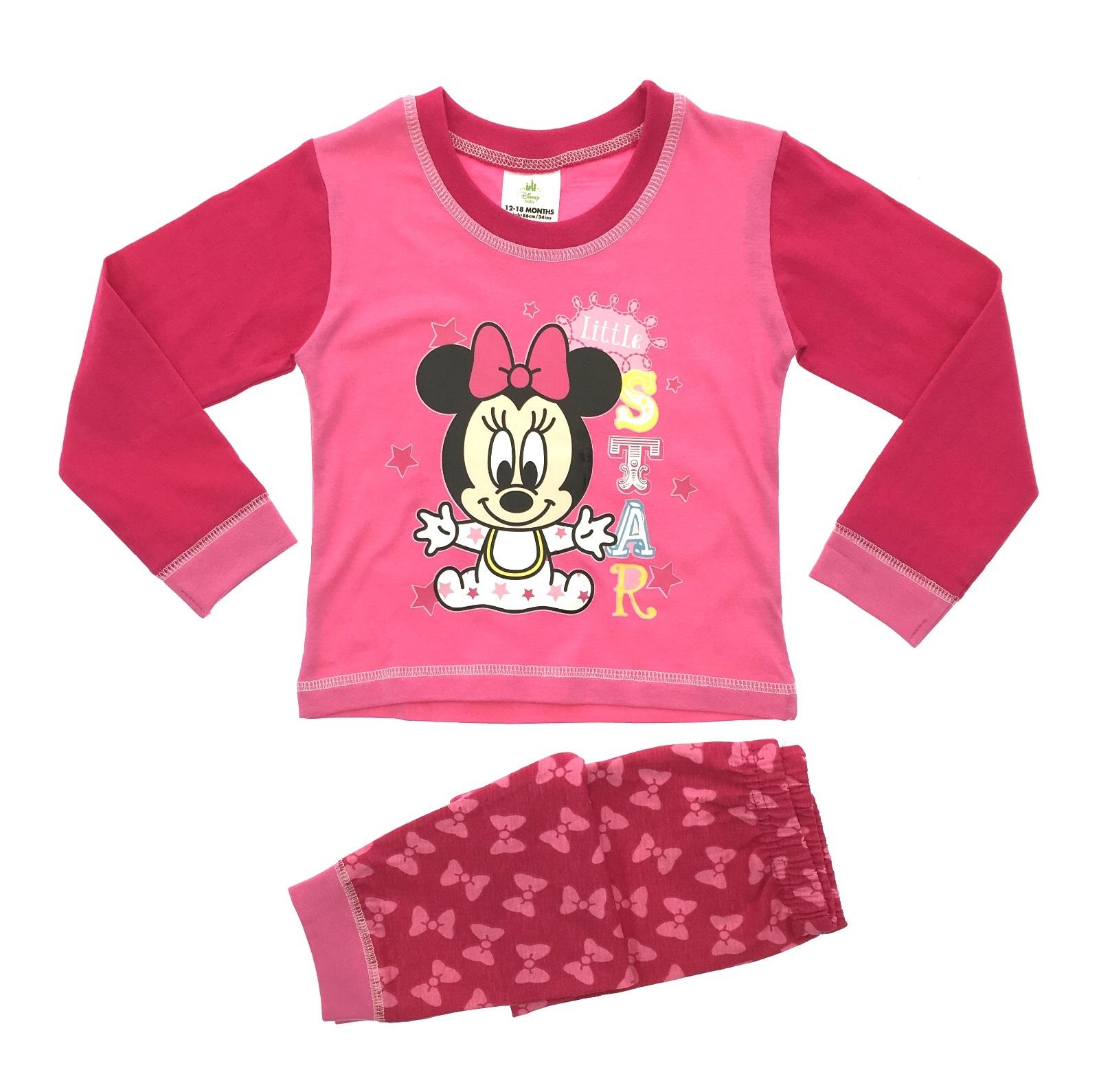 Baby Girls Pyjamas Kids Toddlers Disney Minnie Mouse Pjs Set Me To