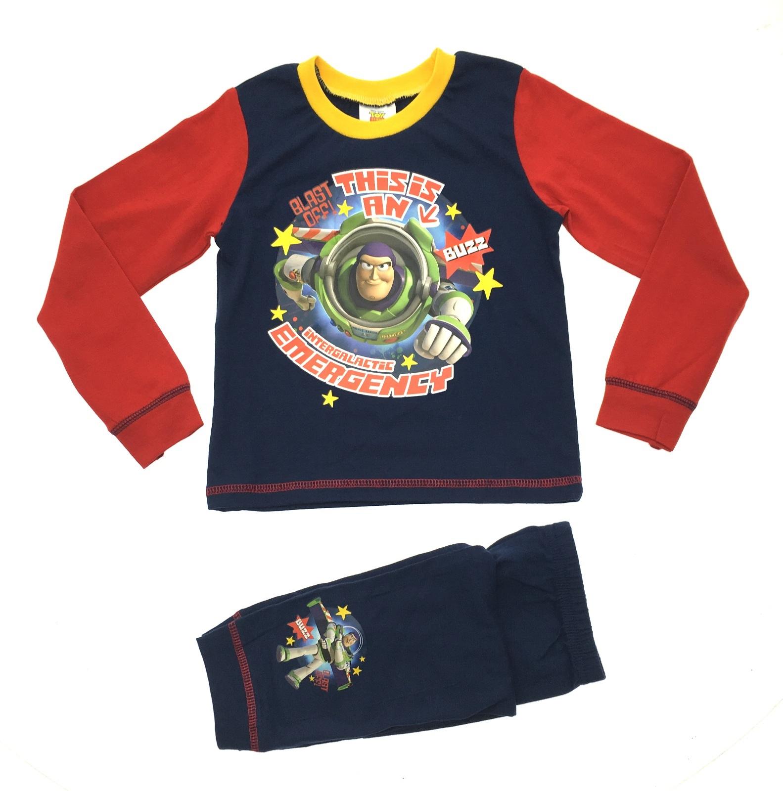 7cc05d780 Kids Boys Official Disney Toy Story Buzz Woody Pyjamas PJ's Set Size ...