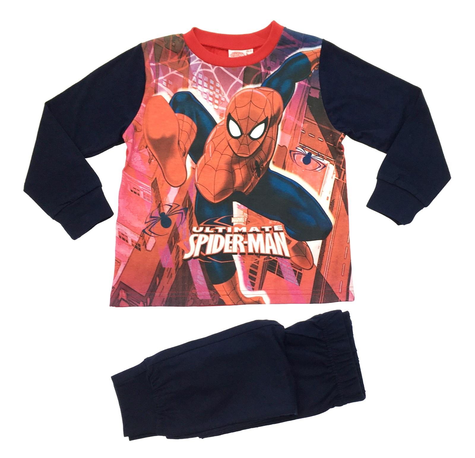 Short-Sleeve Top /& Shorts Marvel Spider-Man Boys 2-Piece Cotton PJ