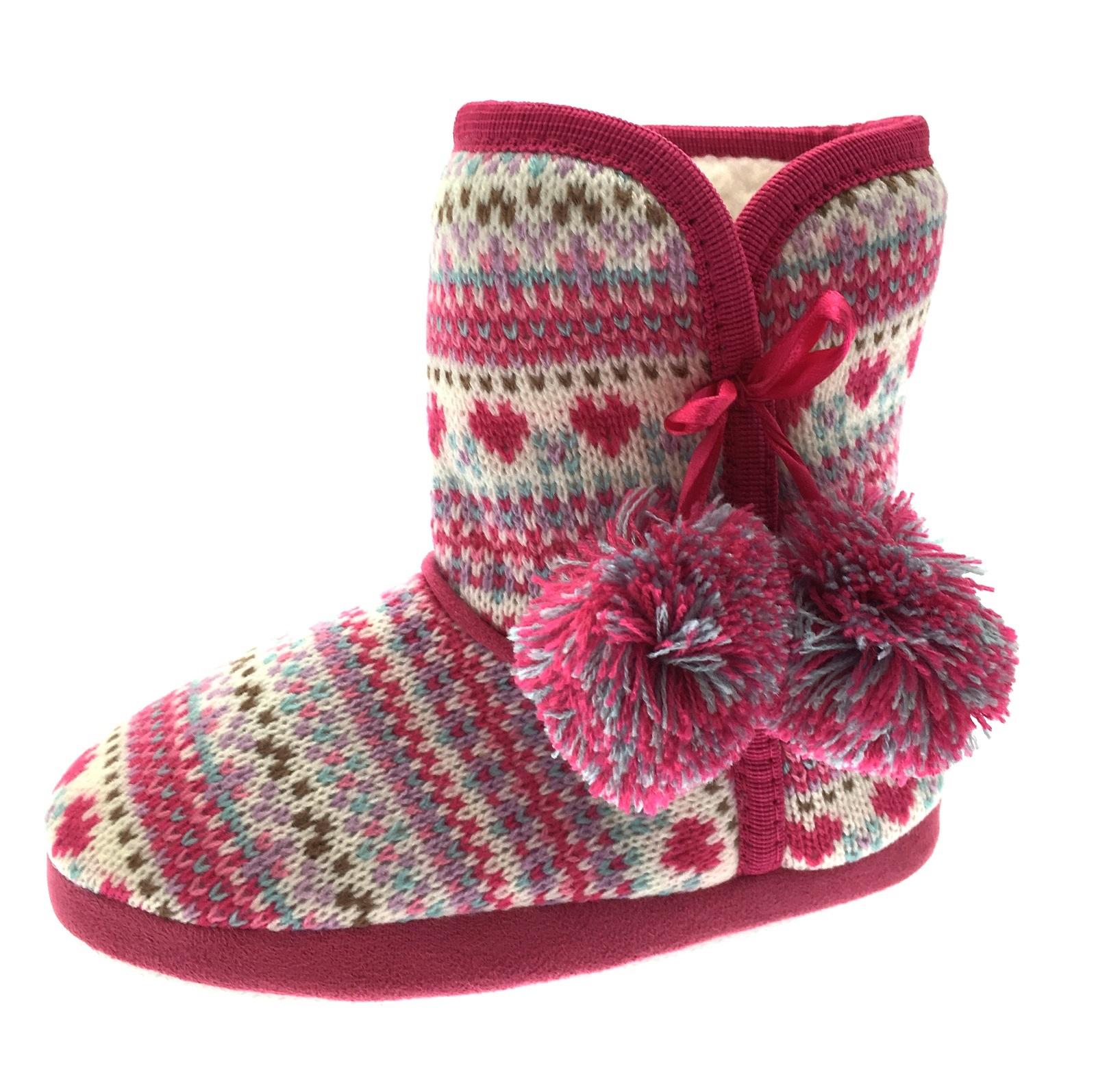 Girls Novelty Slipper Boots Booties