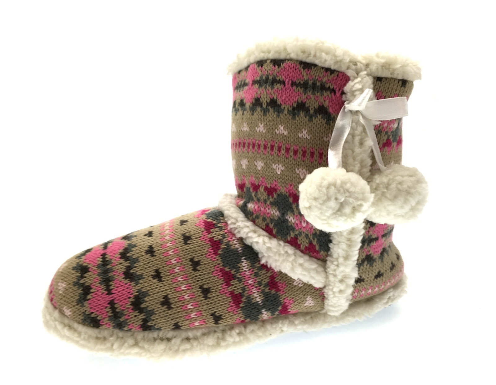 how to make knitted slipper boots