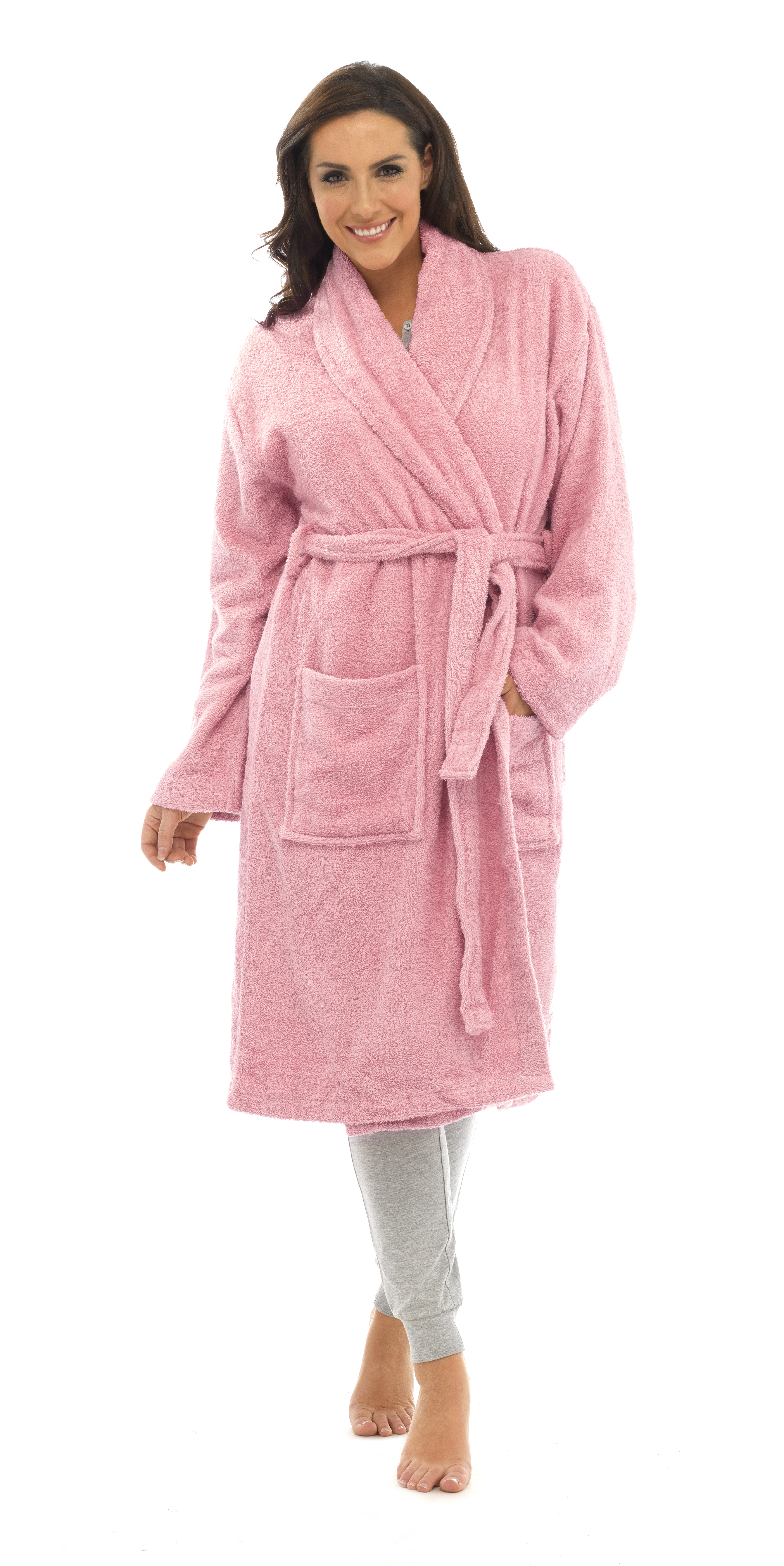 128ca1c35a Womens Pure 100 Cotton Luxury Terry Towelling Bath Robes Dressing ...
