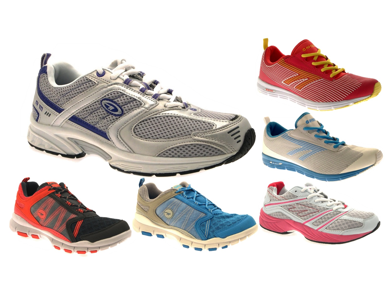 13822f6e80ff9 HI Tec Womens Sports Trainers Lace Up Gym Running Shoes Casual Pumps Size  UK 3-8
