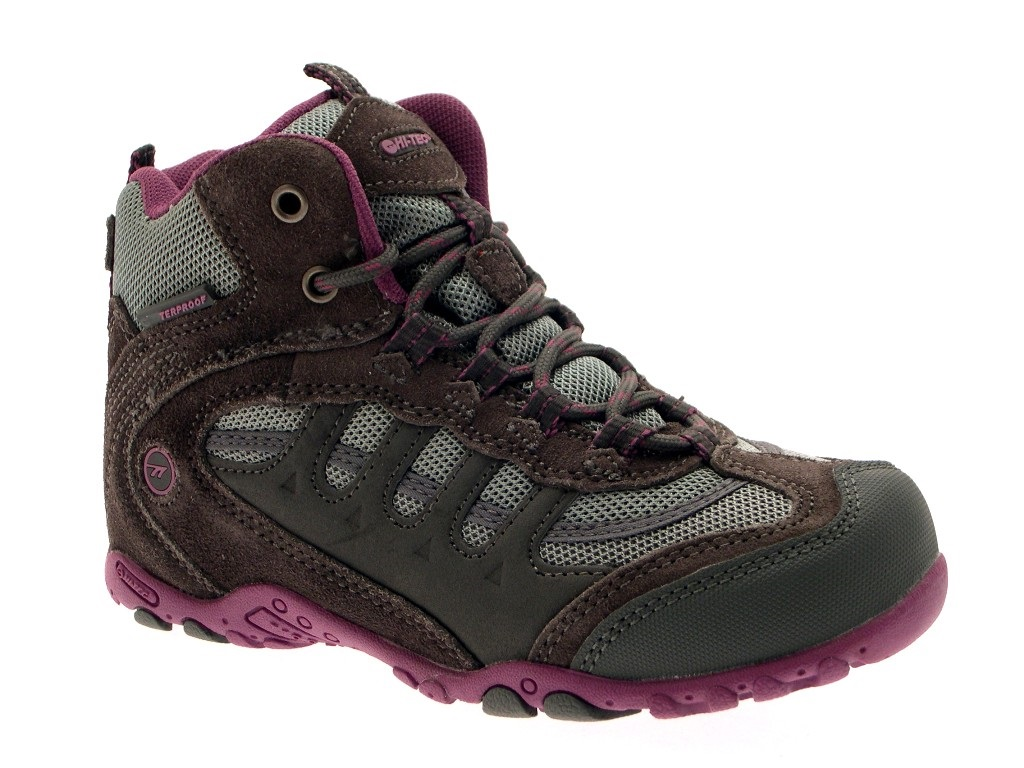 HI TEC BOYS LEATHER WALKING HIKING WATERPROOF ANKLE BOOTS TRAINERS SHOES SIZE