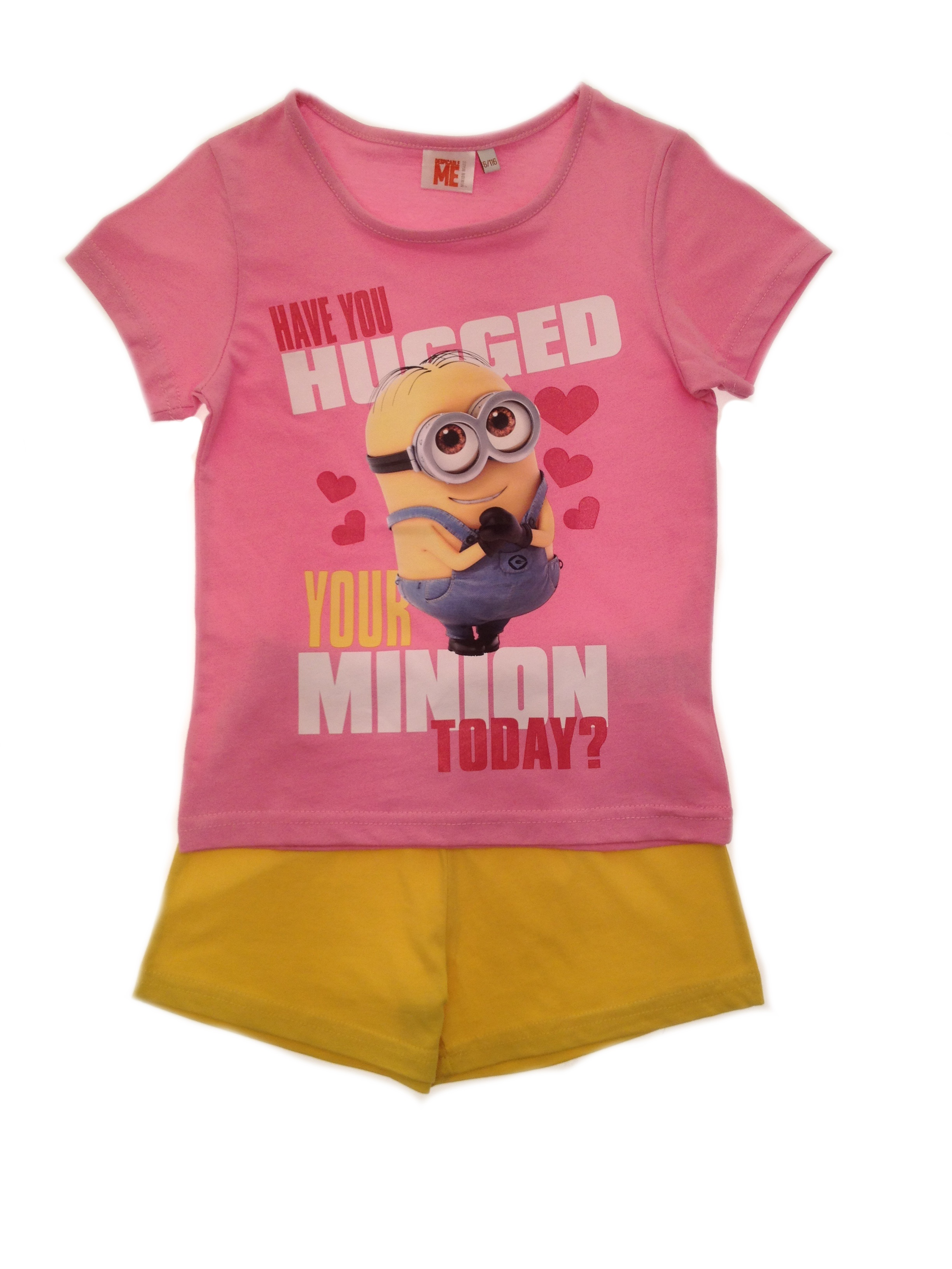 294cb331de Girls Short Pyjama Set Despicable Me Minions Short Pjs Set Kids ...