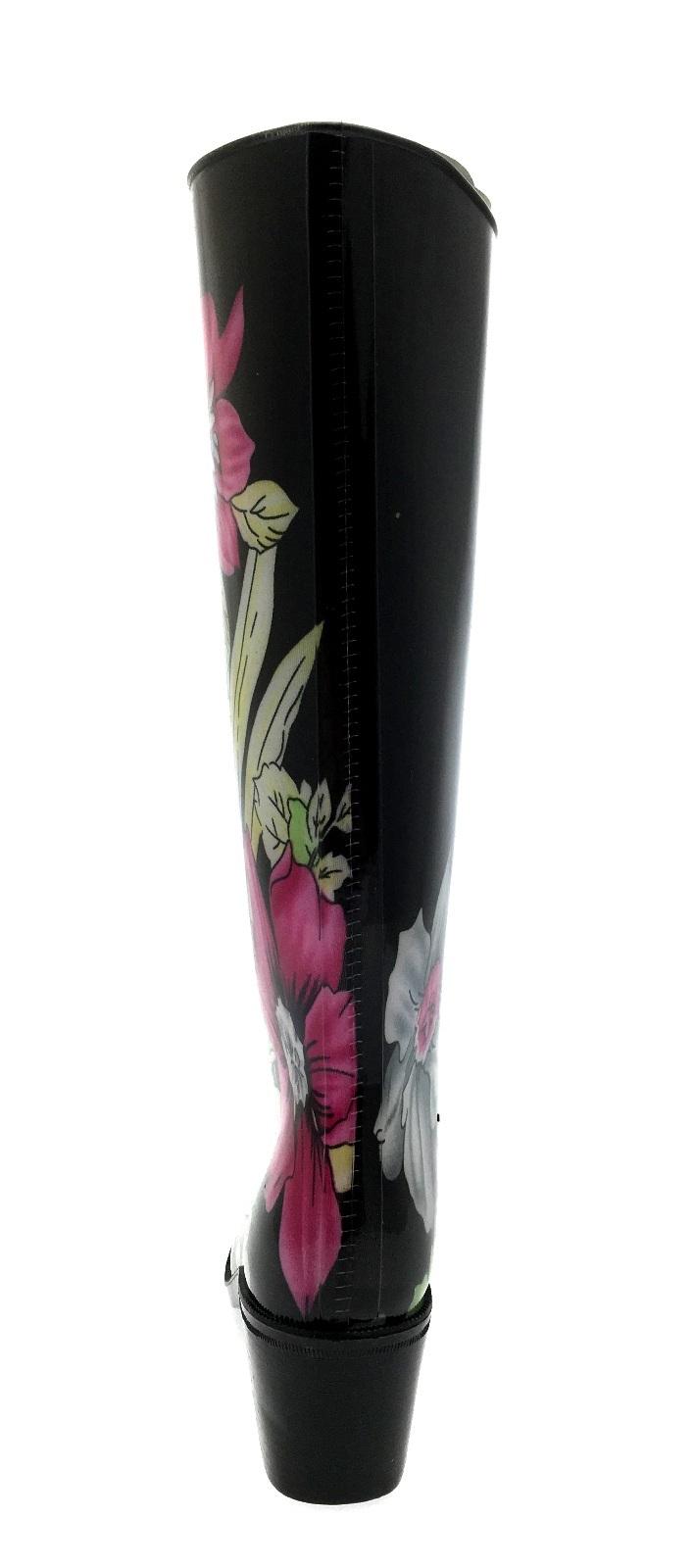 Para-Mujer-De-Taco-Alto-mas-Wellington-impermeable-Botas-De-Lluvia-De-Nieve-Zapatos-Talla-Uk-3-8