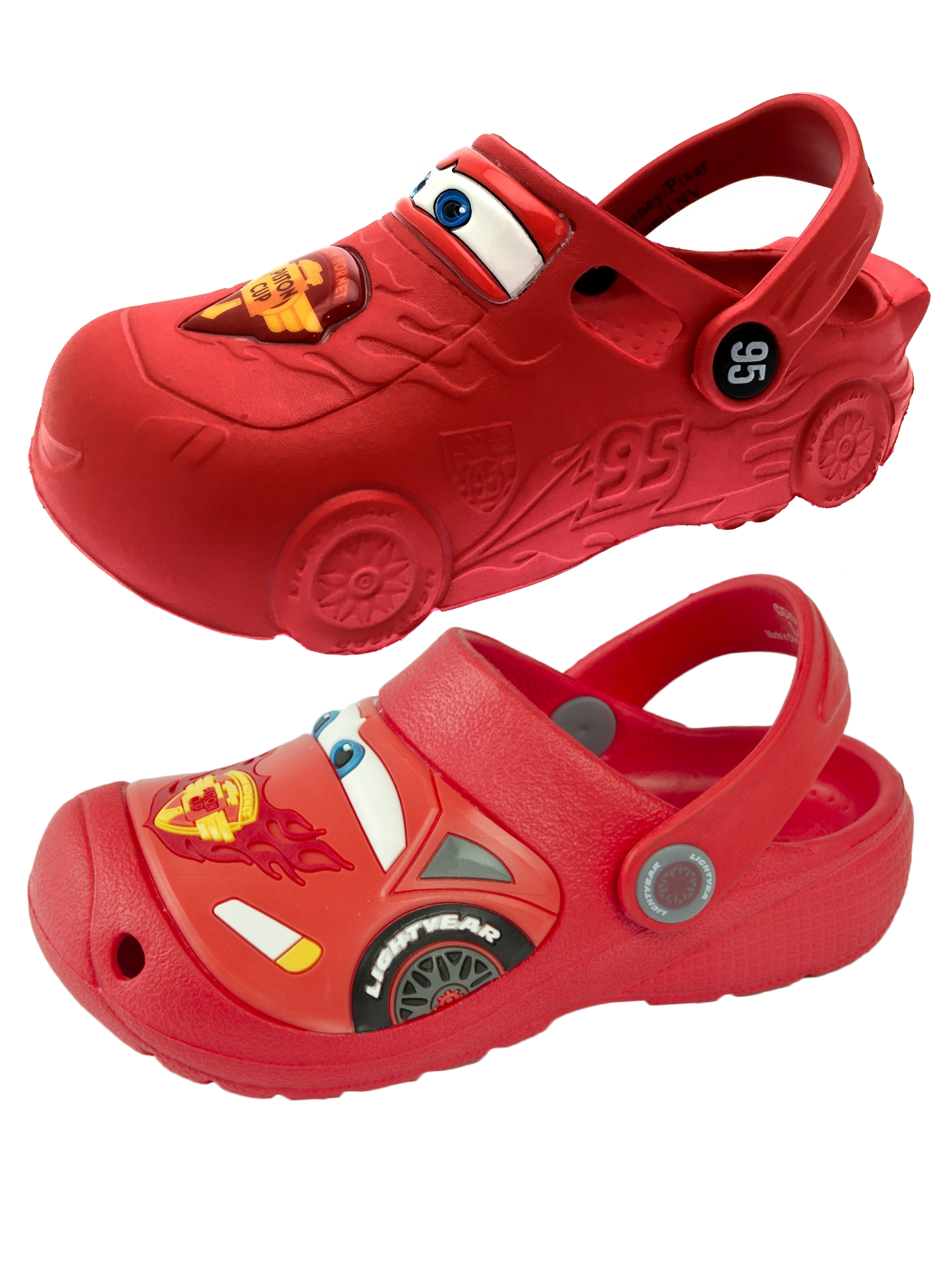 de26e2915399 Disney Cars Lightning McQueen 3D Clogs Beach Summer Sandals Boys Shoes Kids  Size