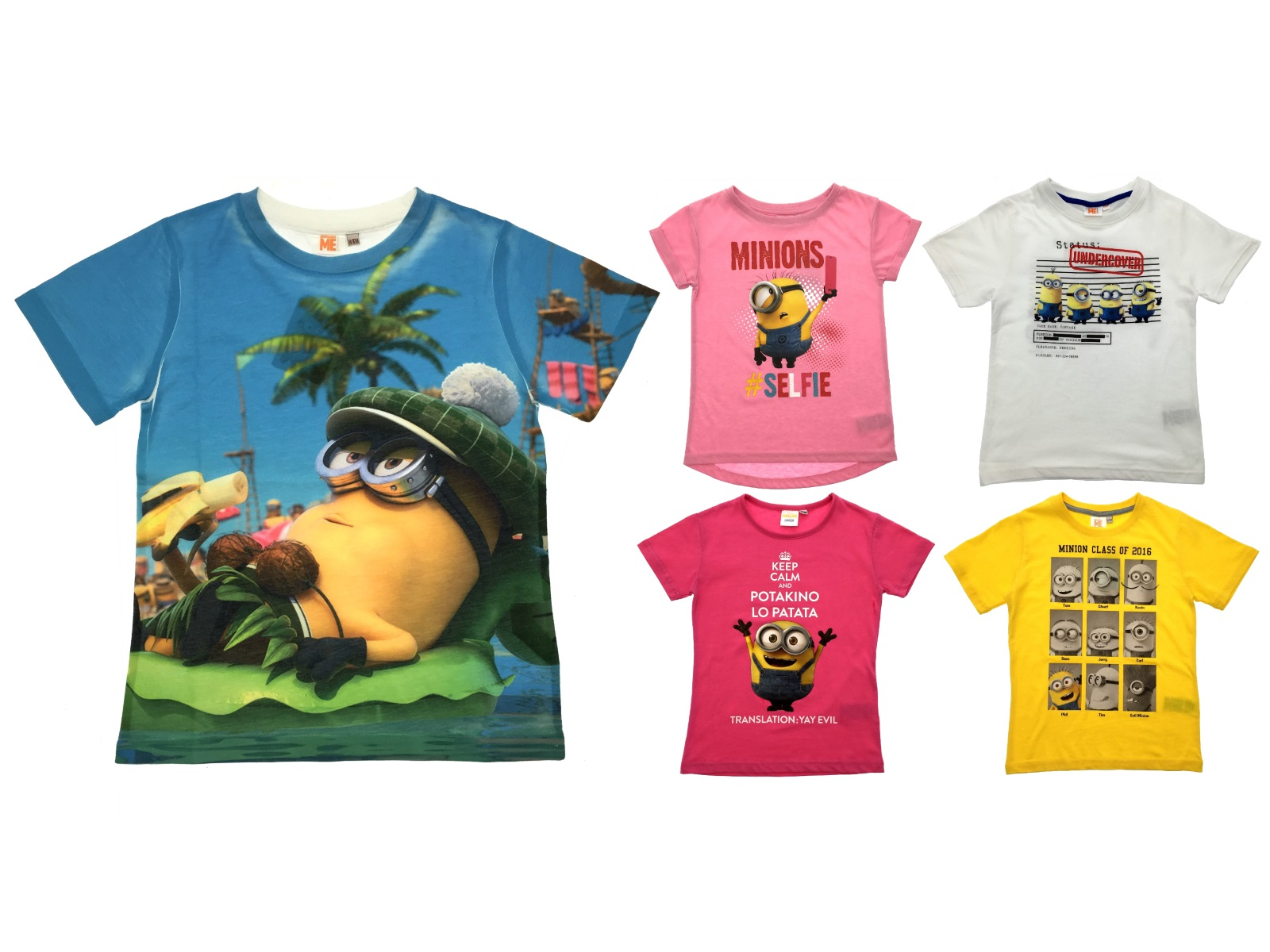 Girls Boys Minions T Shirt From Despicable Me Short Sleeve Top Childrens  Size