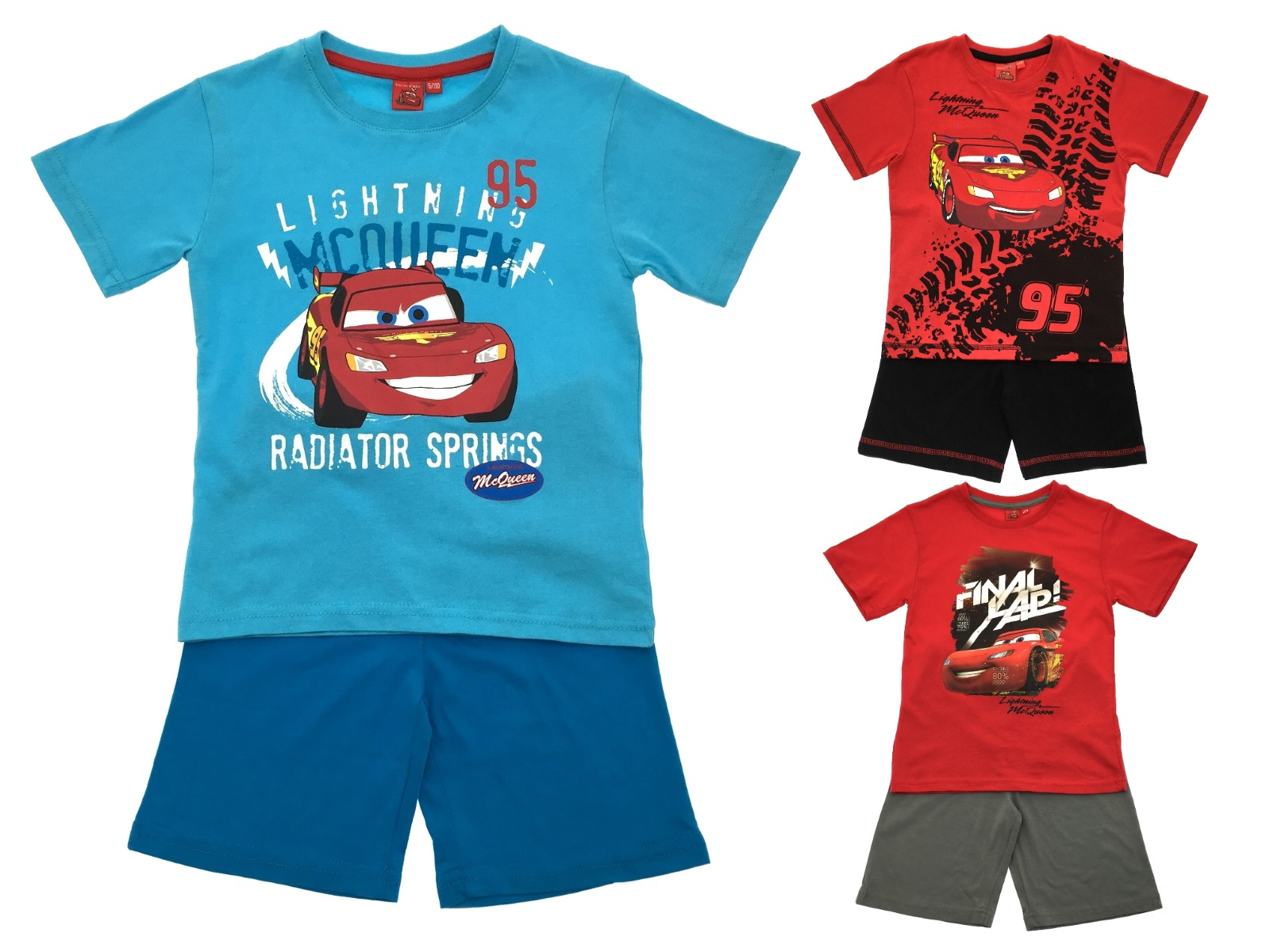 b333d201d10bf Boys Disney Cars Lightning McQueen Pyjamas Short Pjs 2 Piece Pyjama ...