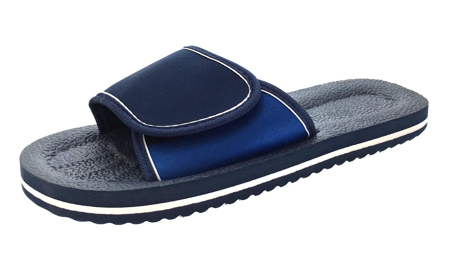 e85cba7aaa6a Mens Lightweight Sandals Adjustable Beach Flip Flops Summer Shoes ...