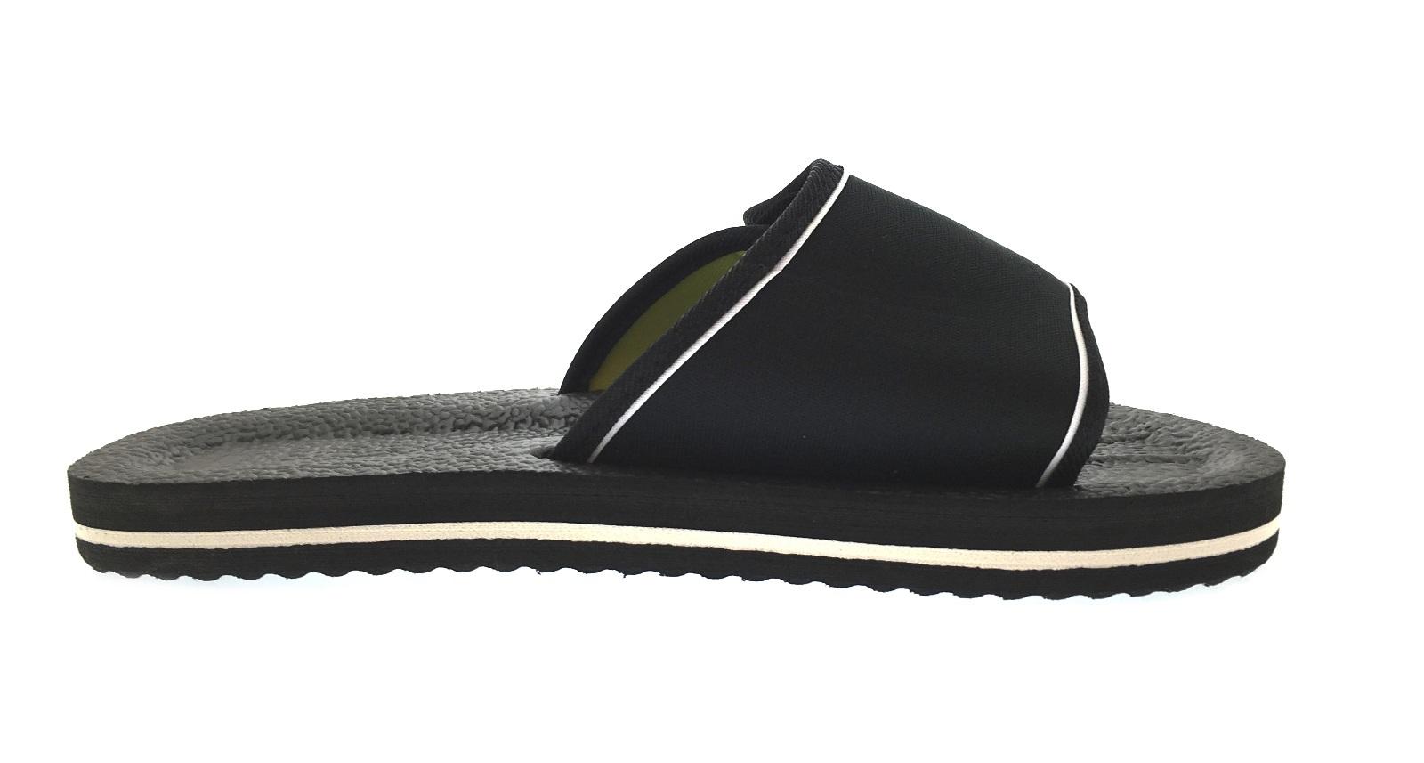 00aa8558656a Mens Lightweight Sandals Adjustable Beach Flip Flops Summer Shoes ...