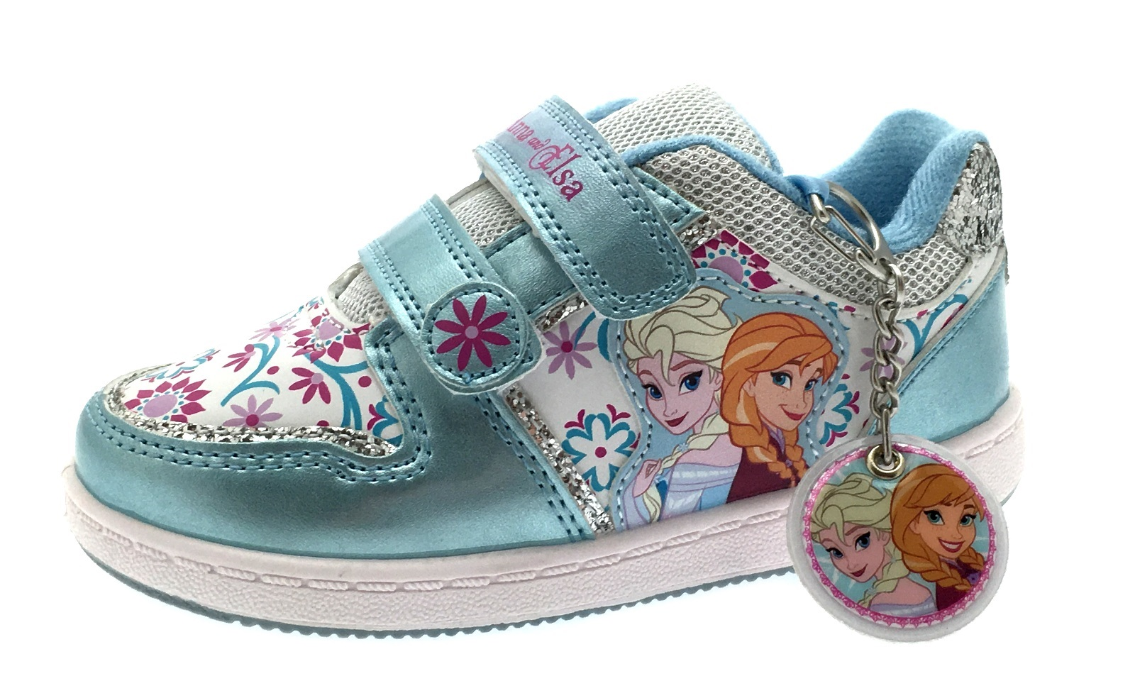 24c5f6f24f8eb Details about Girls Frozen Elsa Olaf Glitter Trainers Character Sports  Shoes Kids Size UK 7-13