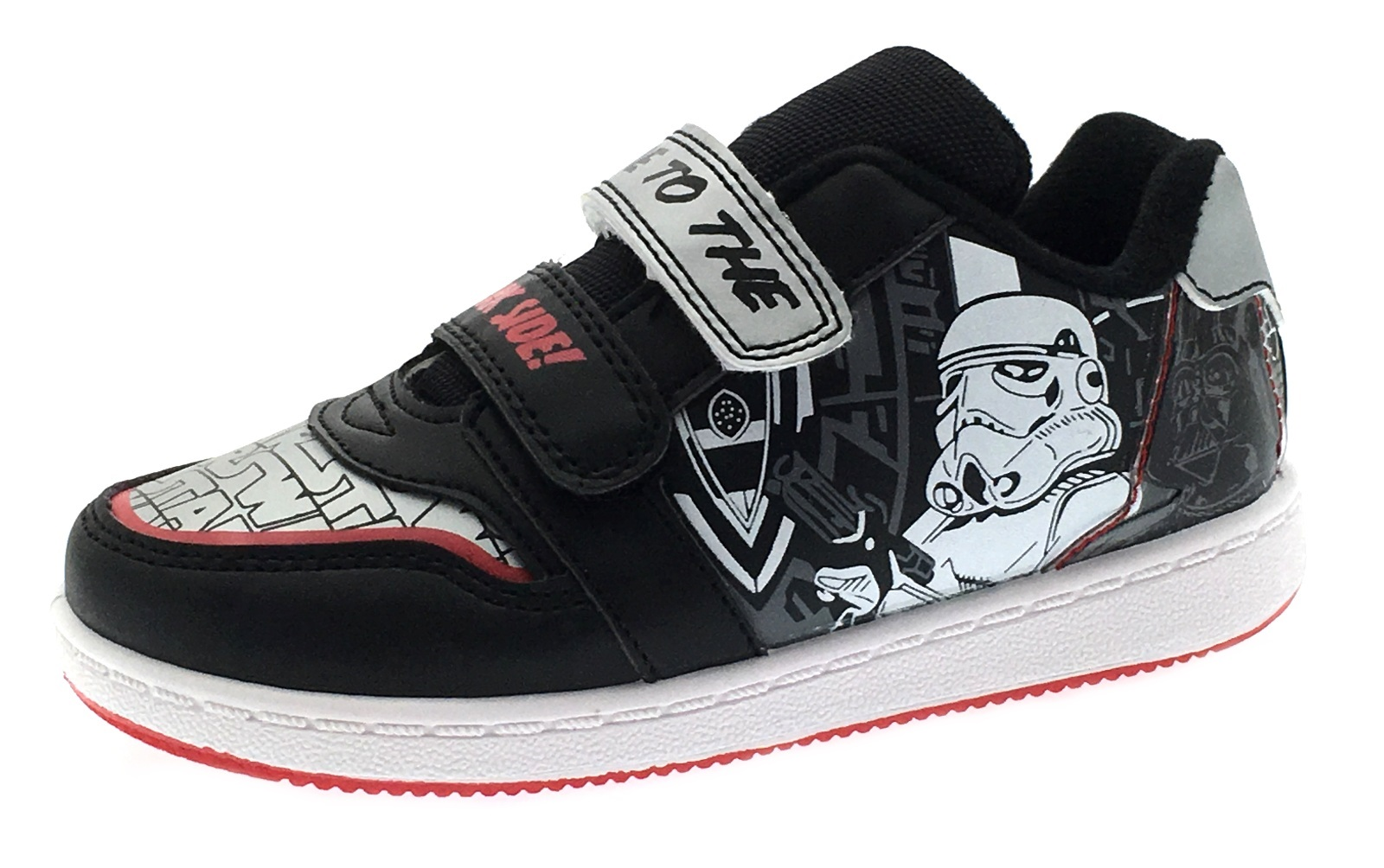5dec0e0a6a99c Details about Boys Disney Star Wars Sports Trainers Flat Skate Shoes  Character Pumps Size