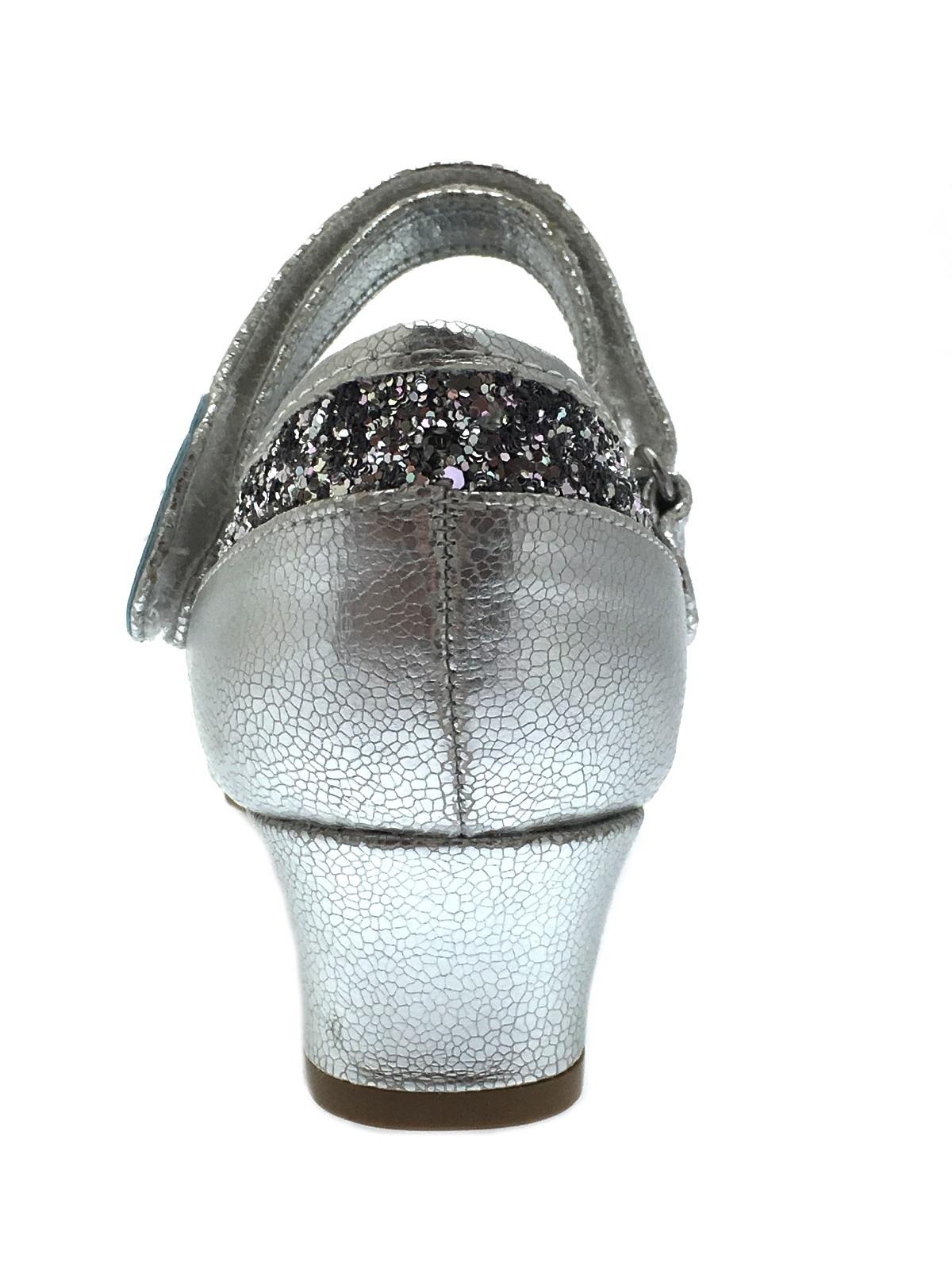 33ccd82b8b31 Kids Girls Disney Frozen Dress Up Shoes Glitter Princess Low Heels ...