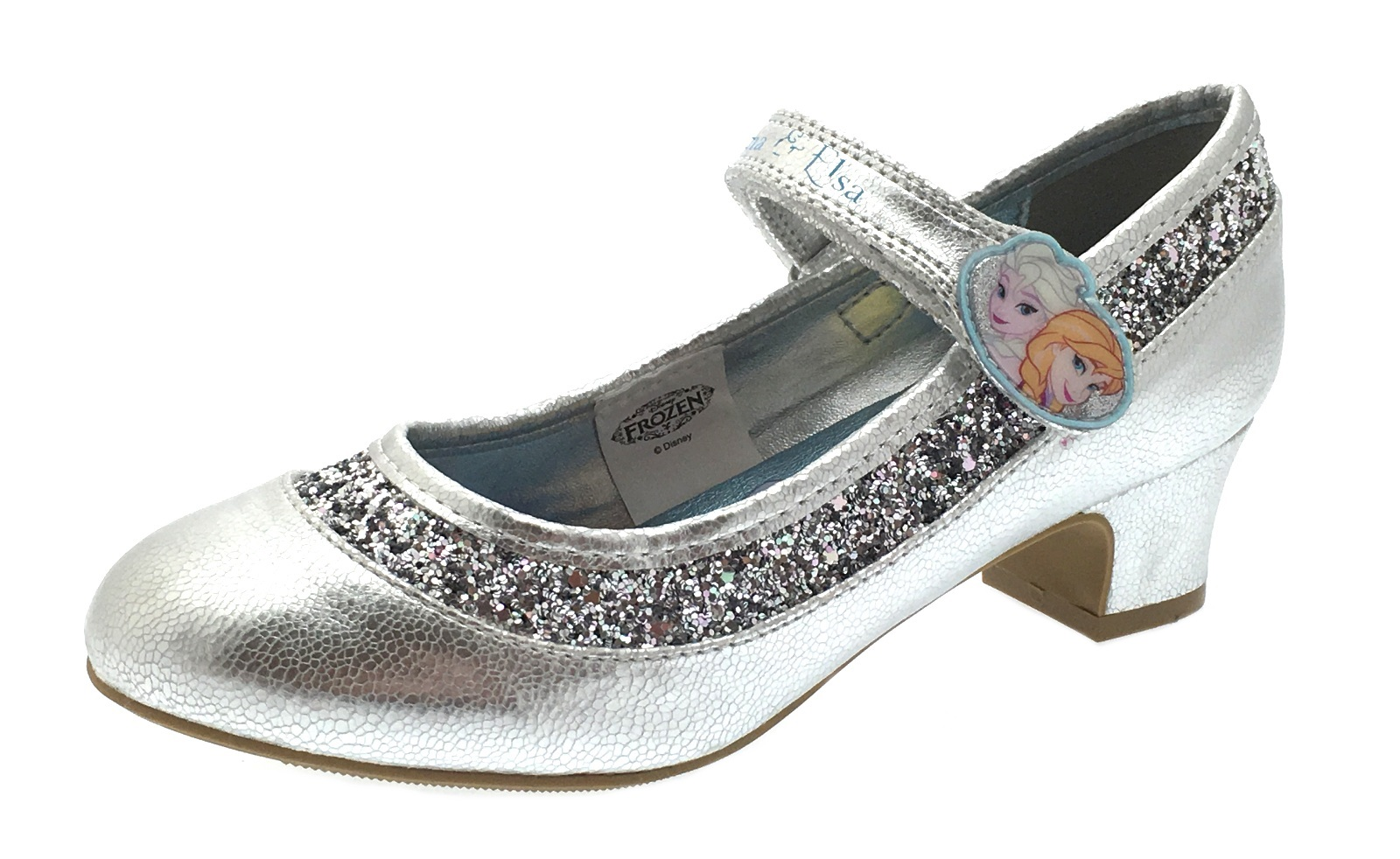 65da73d80df24 Details about Kids Girls Disney Frozen Dress Up Shoes Glitter Princess Low  Heels Party Size