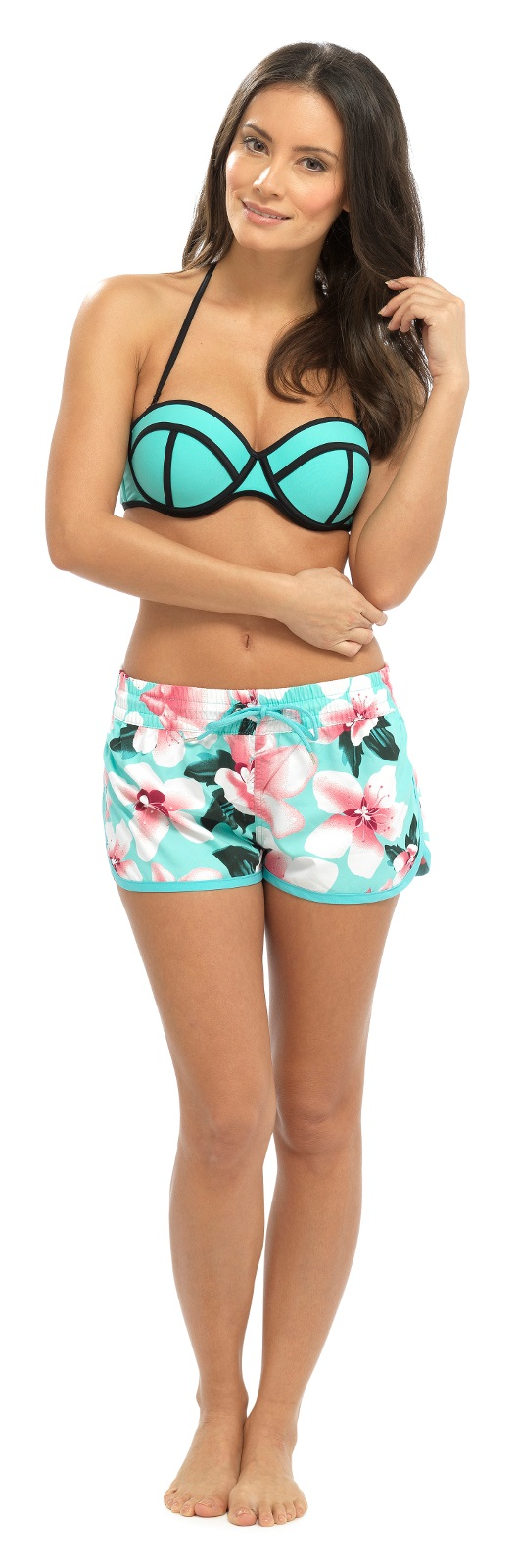 SUMMER WARE LN464 BEACHWEAR LADIES FLOWER FLORAL PRINT BEACH SHORTS