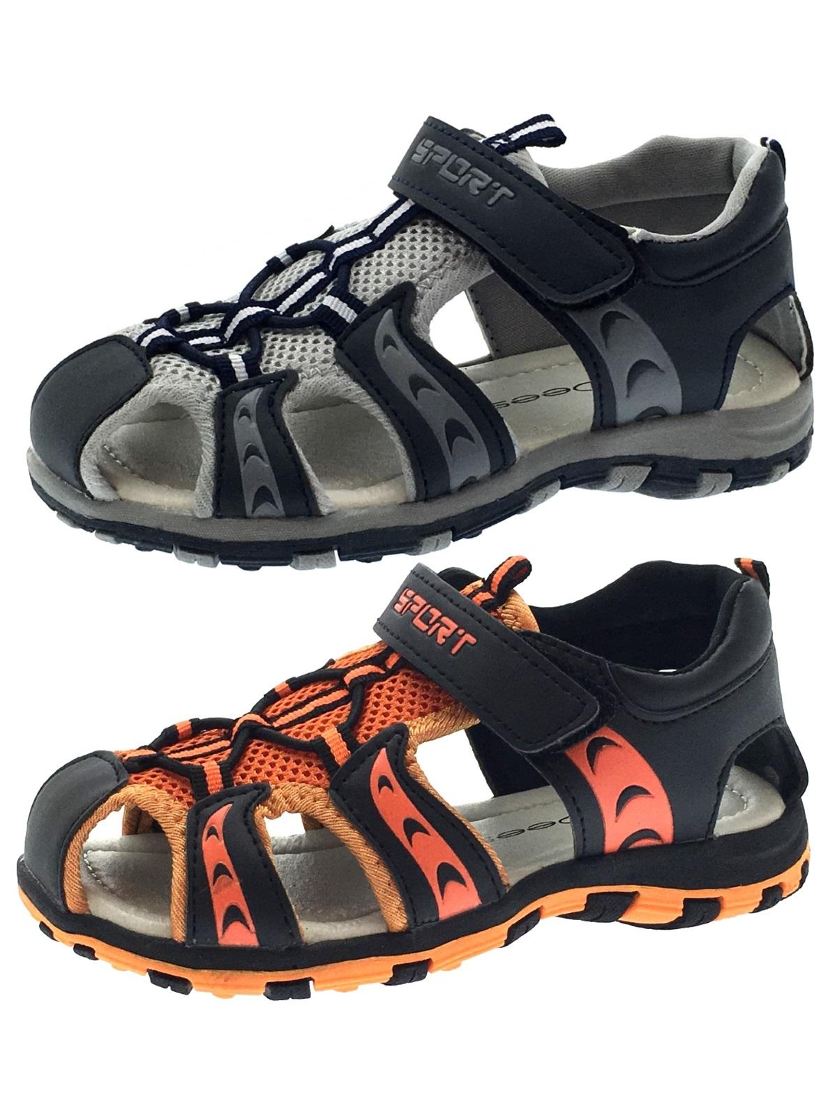 Boys Sports Sandals Closed Toe Walking Comfort Casual