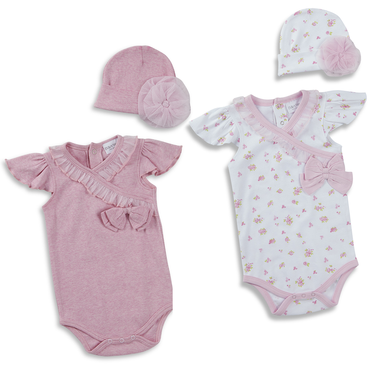 Baby Prem Girls Boys Sleepsuit Bib Hat Babygrow Reborn Gift Set Romper Bodysuit