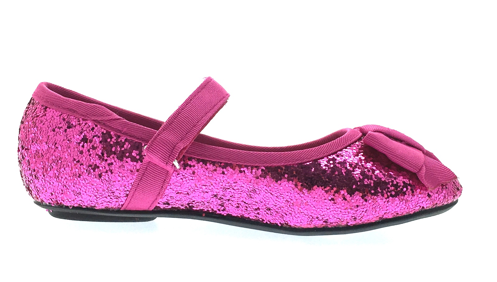 GIRLS SPARKLY GLITTER FLAT BALLET DOLLY PUMPS EVENING PARTY SHOES KIDS UK 6-12