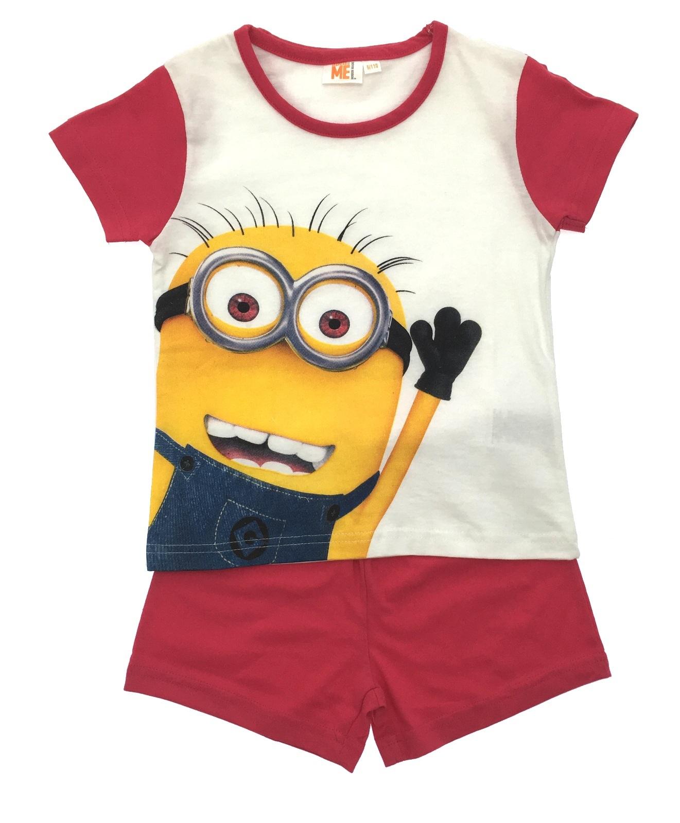 Girls Short Pyjama Set Despicable Me Minions Short Pjs Set Kids ... 908614b19