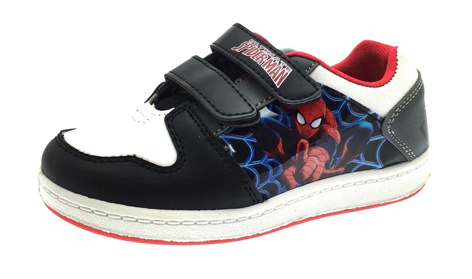 5c6acc1912cd Marvel Spiderman Sports Trainers Character Skate Pumps Boys Sneakers ...