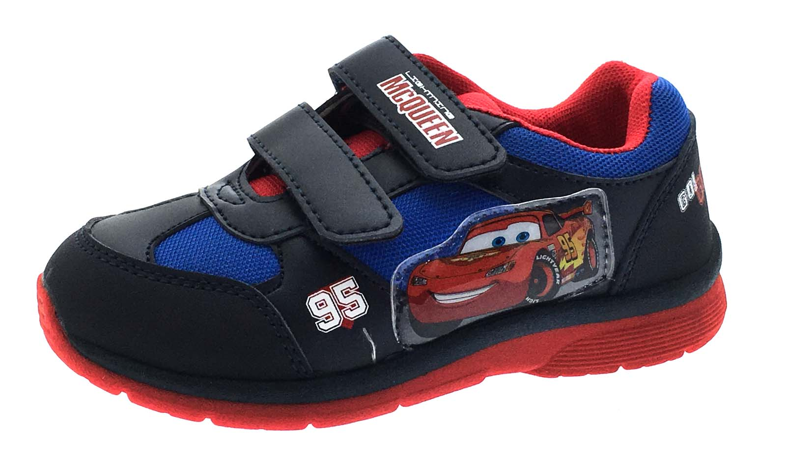 Boys Cars Lightning McQueen Skate Trainers Casual Character Sports Shoes Kids