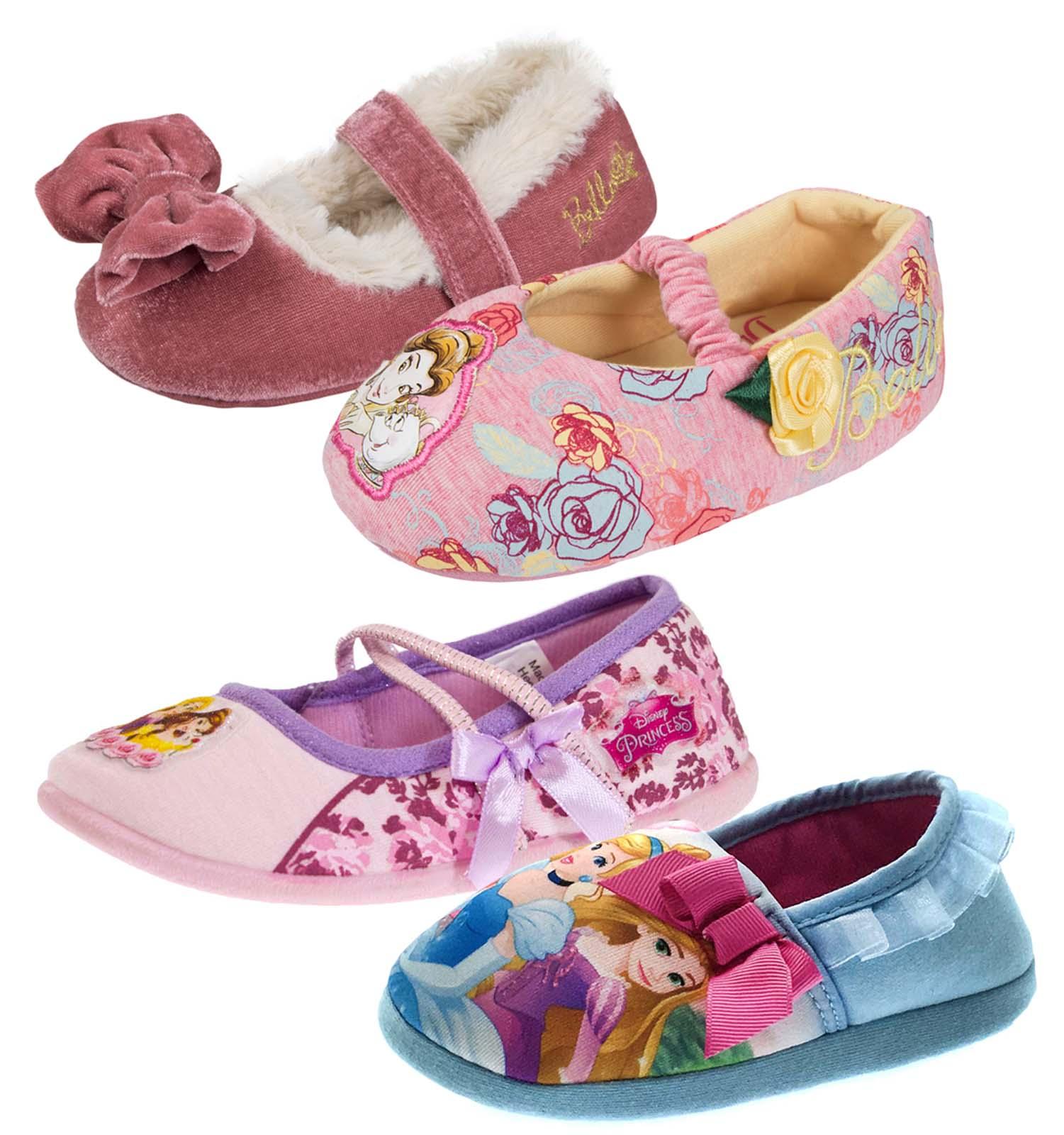 Girls Disney Princess Slippers
