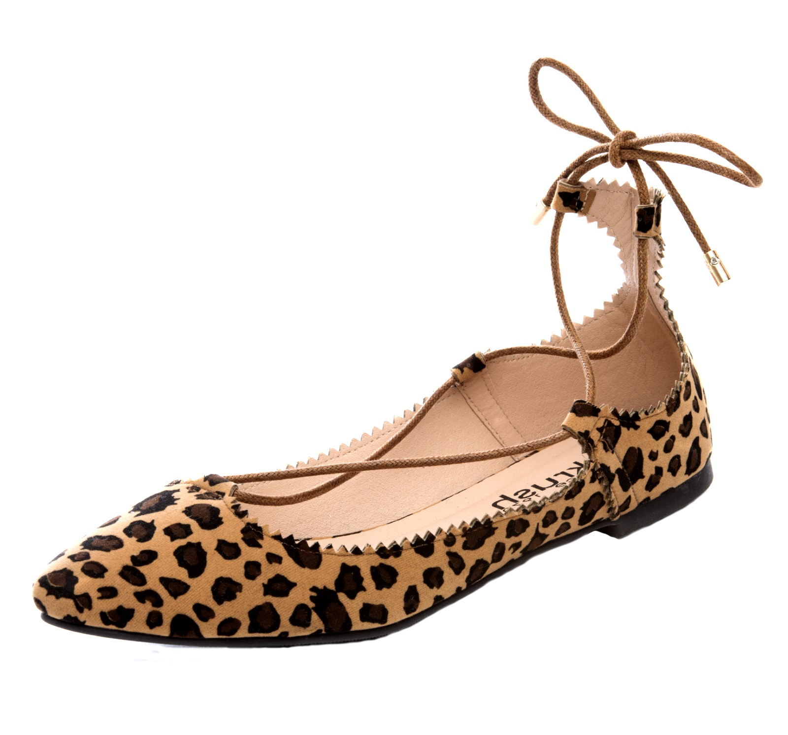 Womens Lace Up Ballet Pumps Strappy