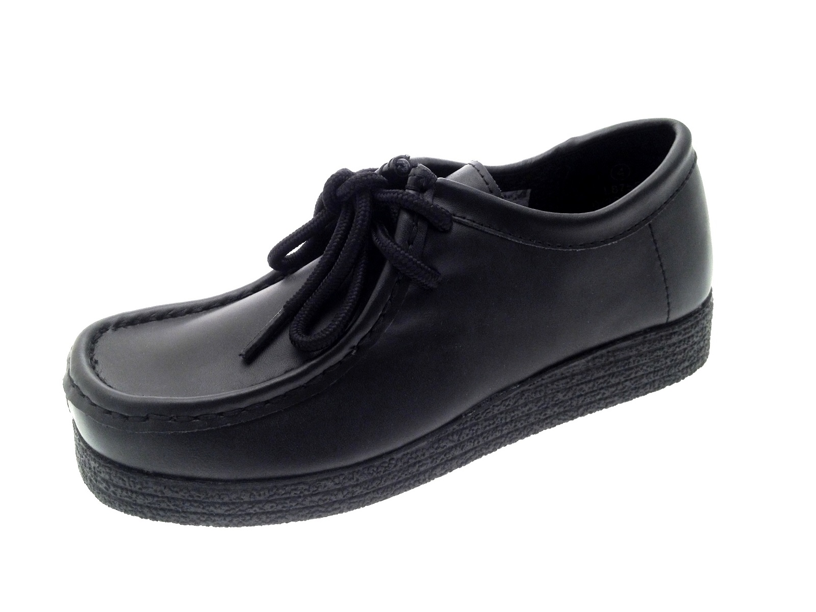 Mens Black Leather Shoes Size