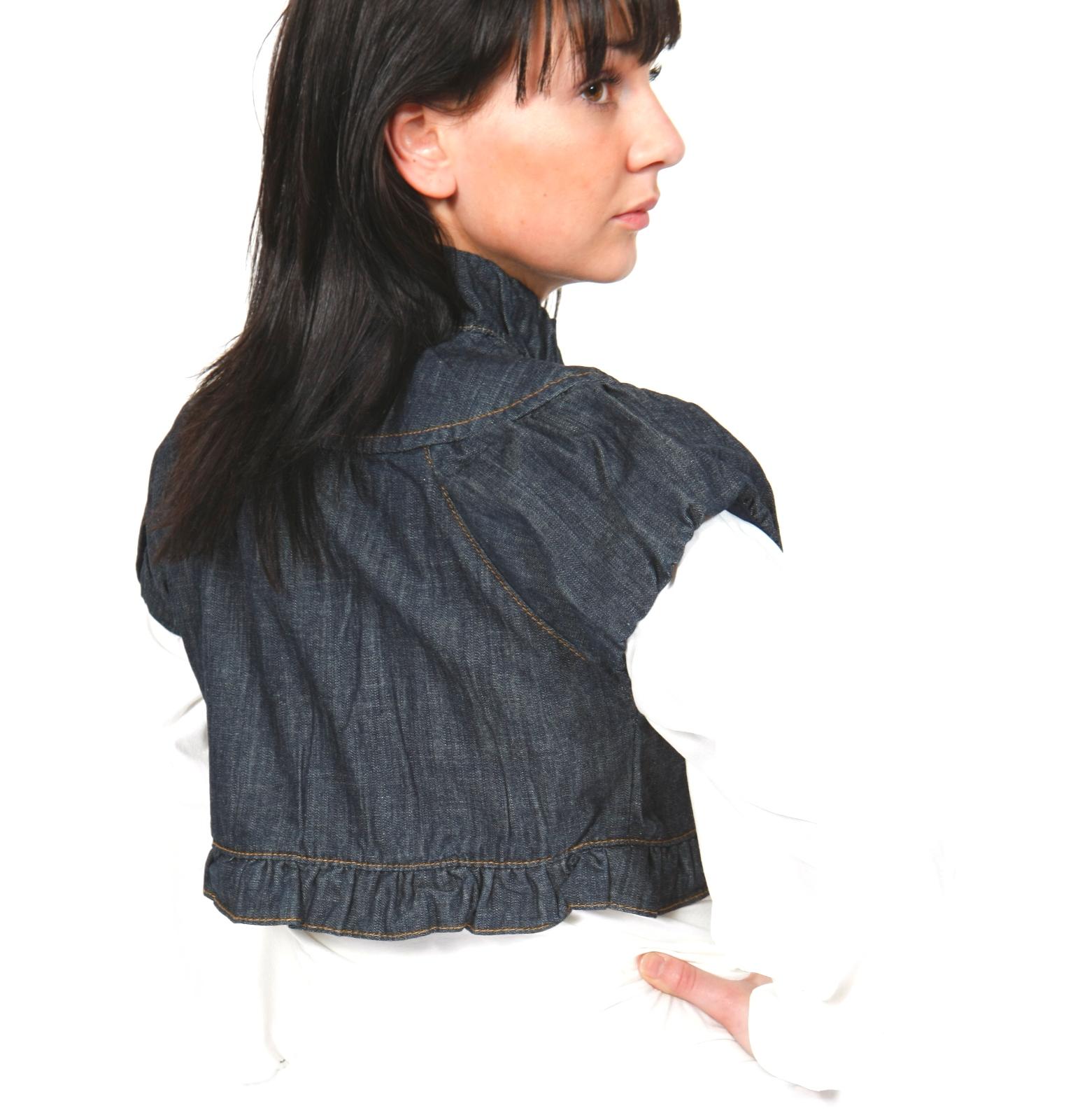 41d5700f6ff2f6 Womens Short Denim Jacket Sleeveless Cropped Summer Vest Waistcoat ...