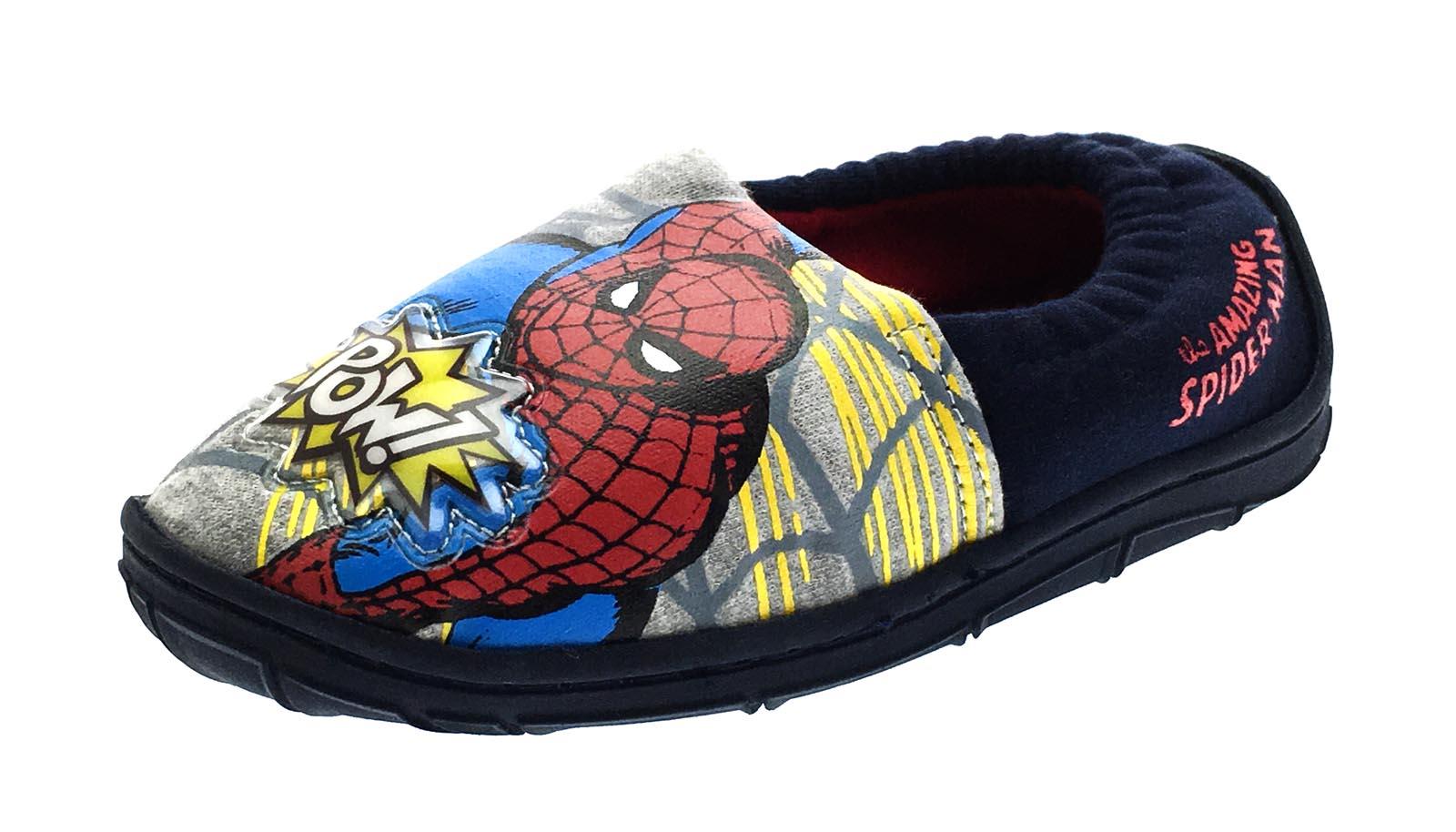 Boys Marvel Spiderman Light Up Slippers