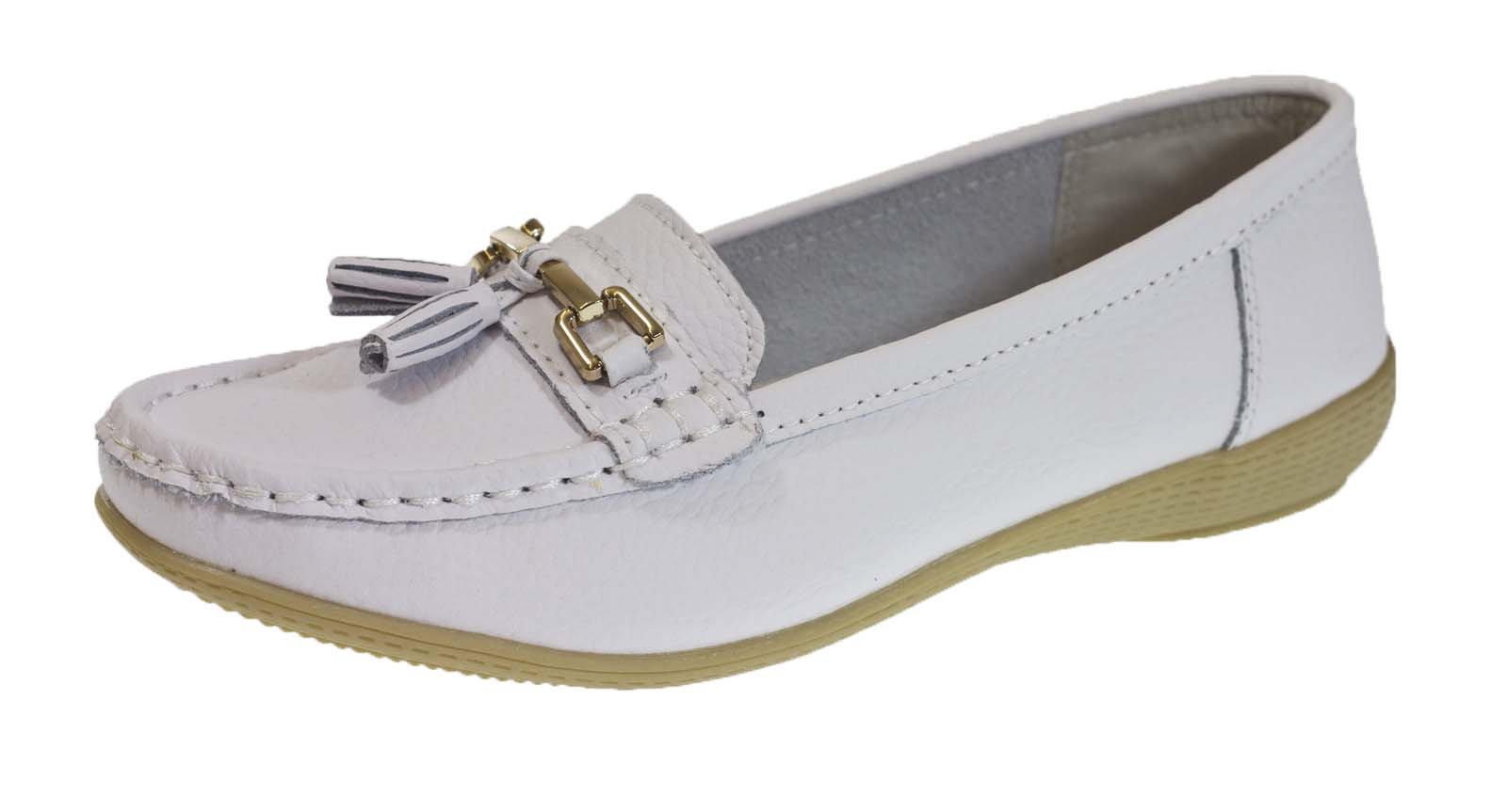 Womens Leather Driving Comfort Shoes Moccasins Cushioned ...