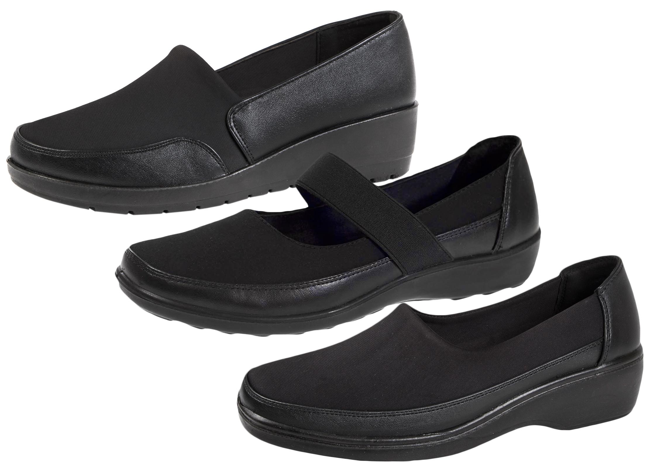 Womens Stretch Elastic Work Shoes Flat