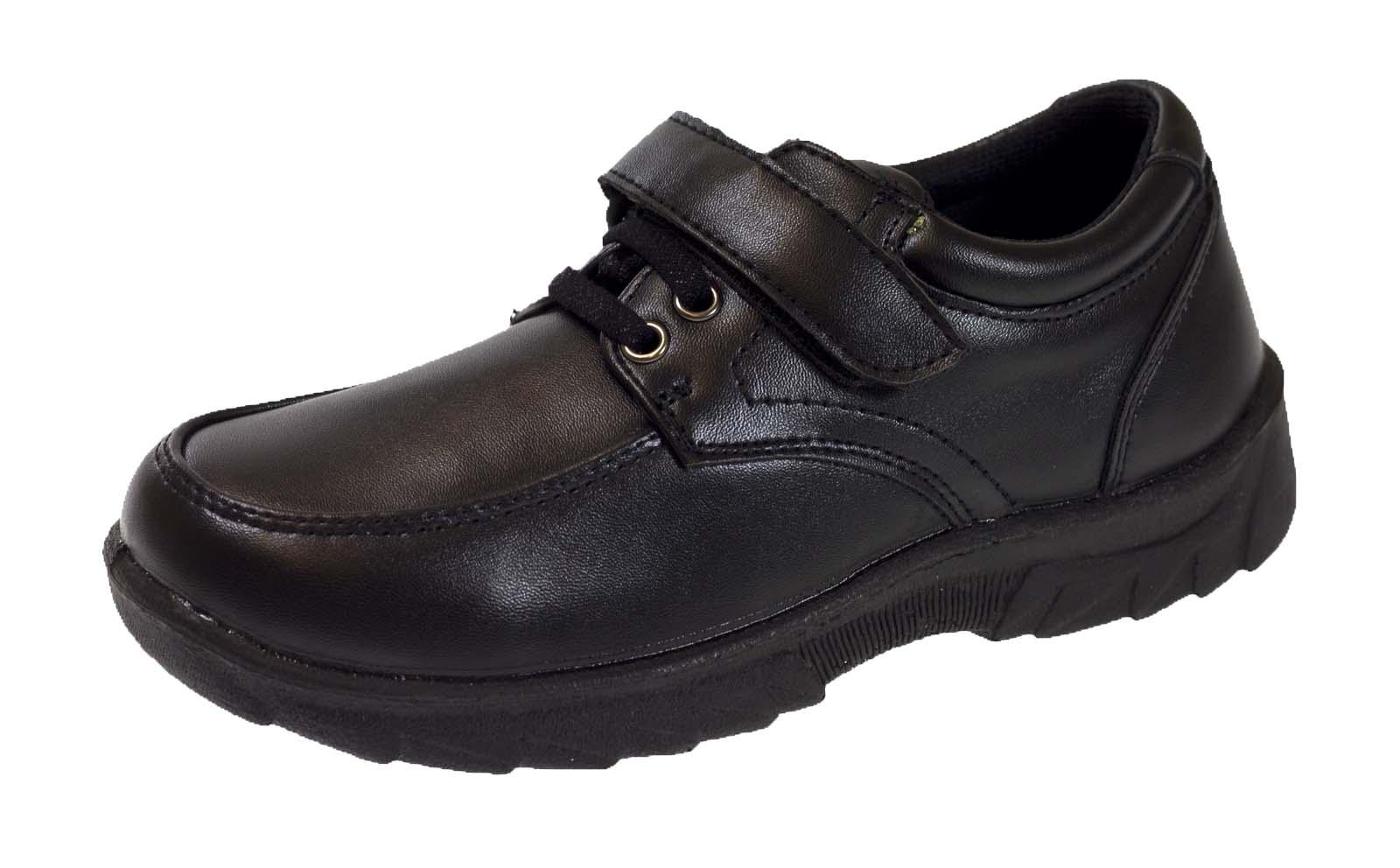 Boys Black Faux Leather School Shoes UK Infant Size 8,10 /& UK Kid 11