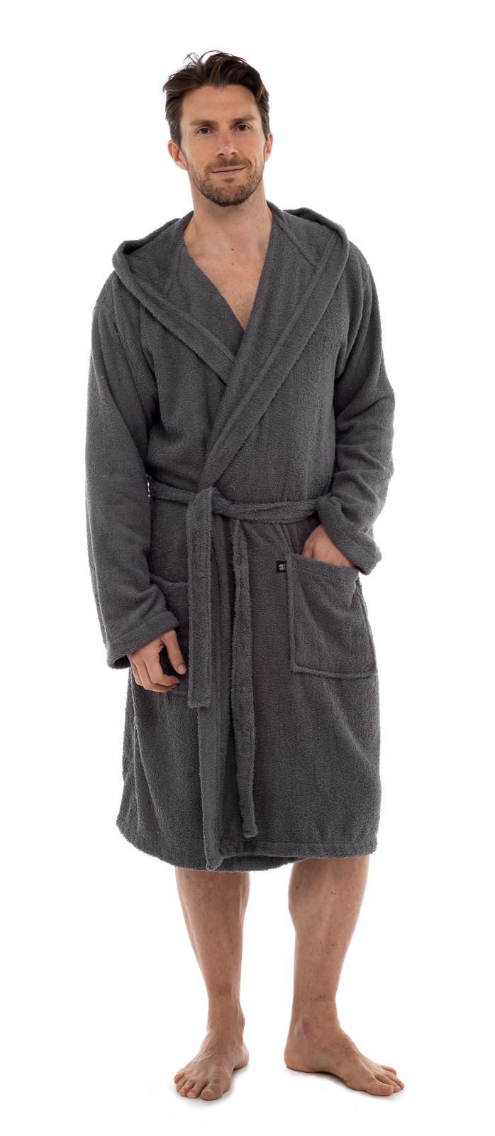 Mens Pure 100% Cotton Luxury Hooded Terry Towelling Bath ...