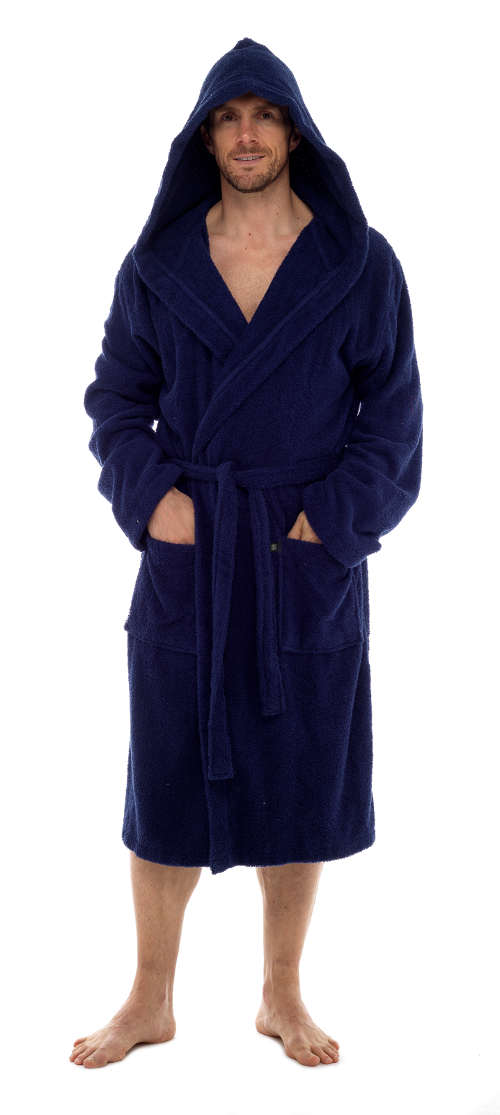 Mens Pure 100% Cotton Luxury Hooded Terry Towelling Bath Robes ... 9959bad87