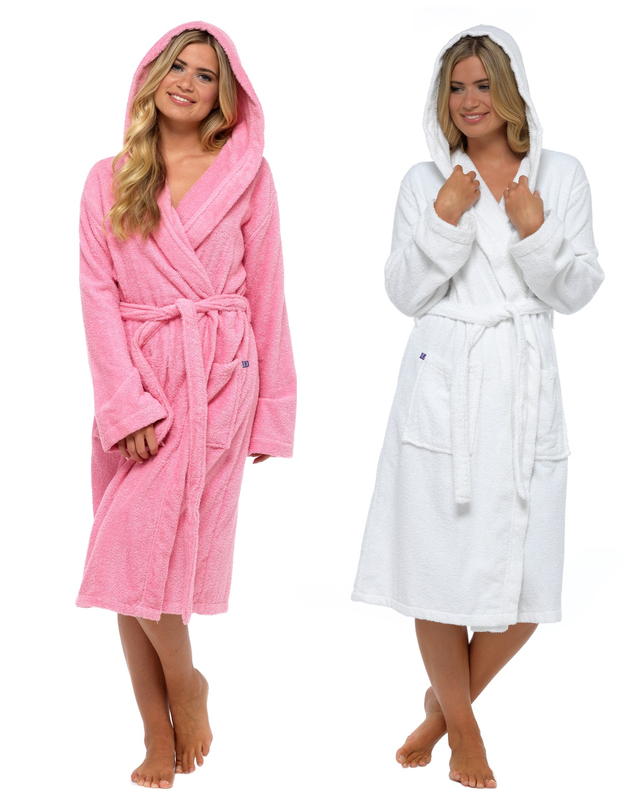 100Cotton Womens Gown Robe Hooded Luxury Toweling Bath Dressing Pure About Details Robes CQdstrxh