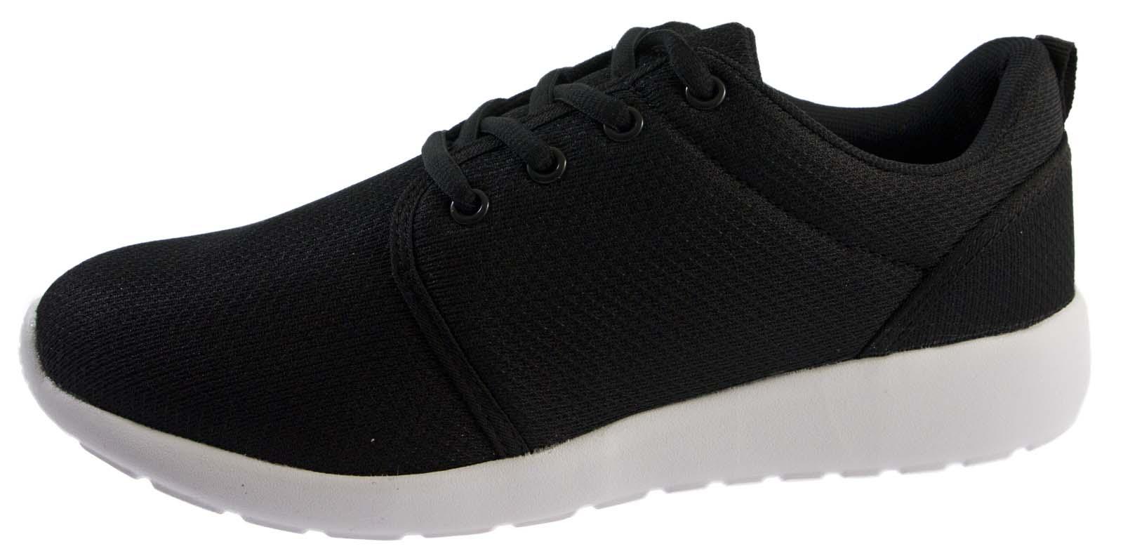 Para Mujer Chicas Ligero Deportes Entrenadores transpirables zapatos para correr con Encaje Talla de UPS
