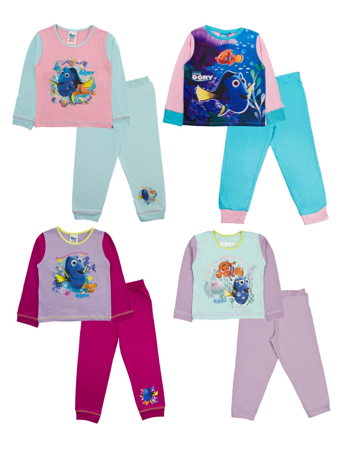 New Disney Finding Dory Girls Pyjamas Nightwear Nemo Pink 18 months to 5 years